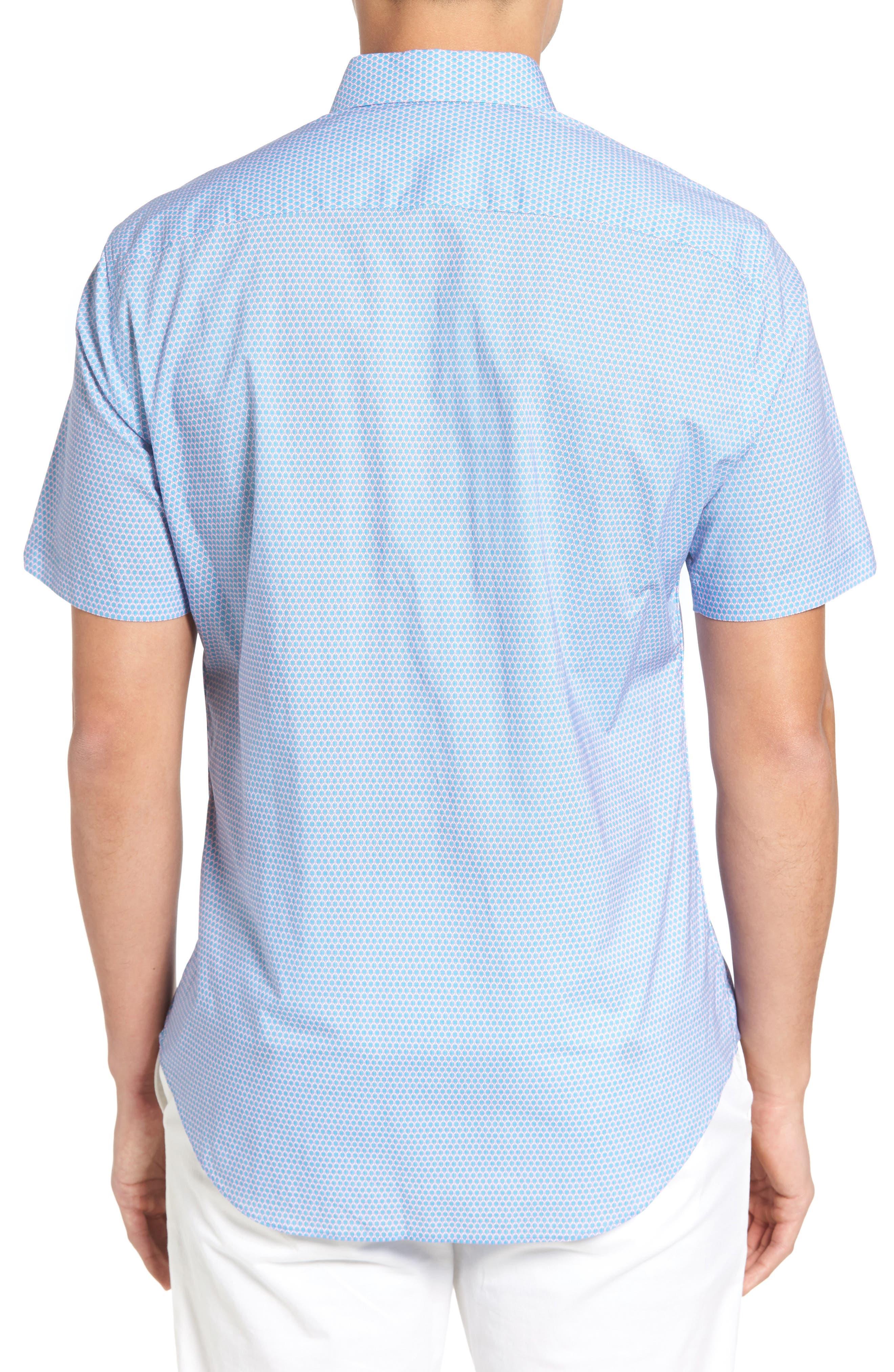 Parker Trim Fit Print Sport Shirt,                             Alternate thumbnail 2, color,                             440
