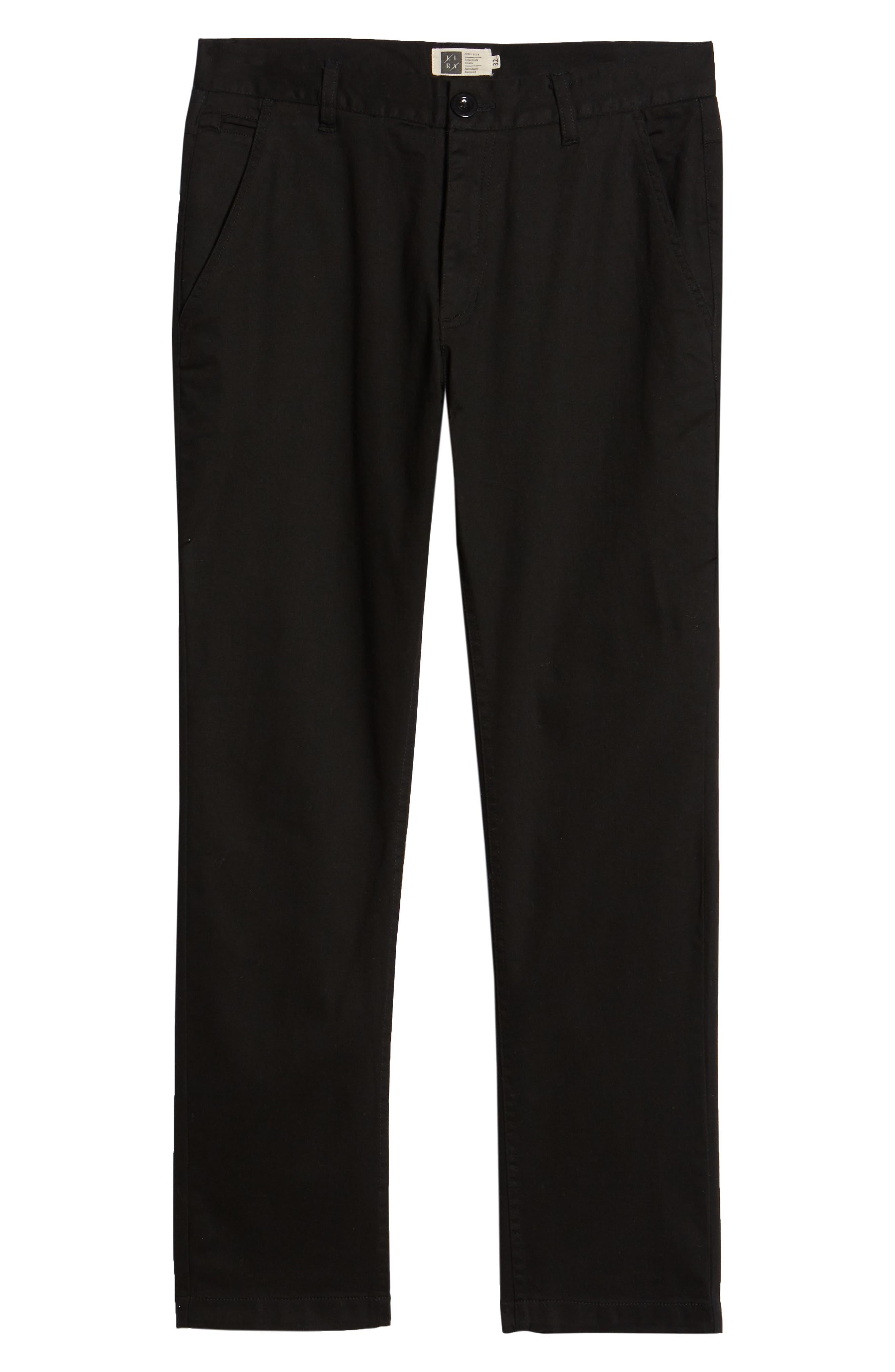 Vacation Slim Fit Crop Pants,                             Alternate thumbnail 6, color,                             BLACK