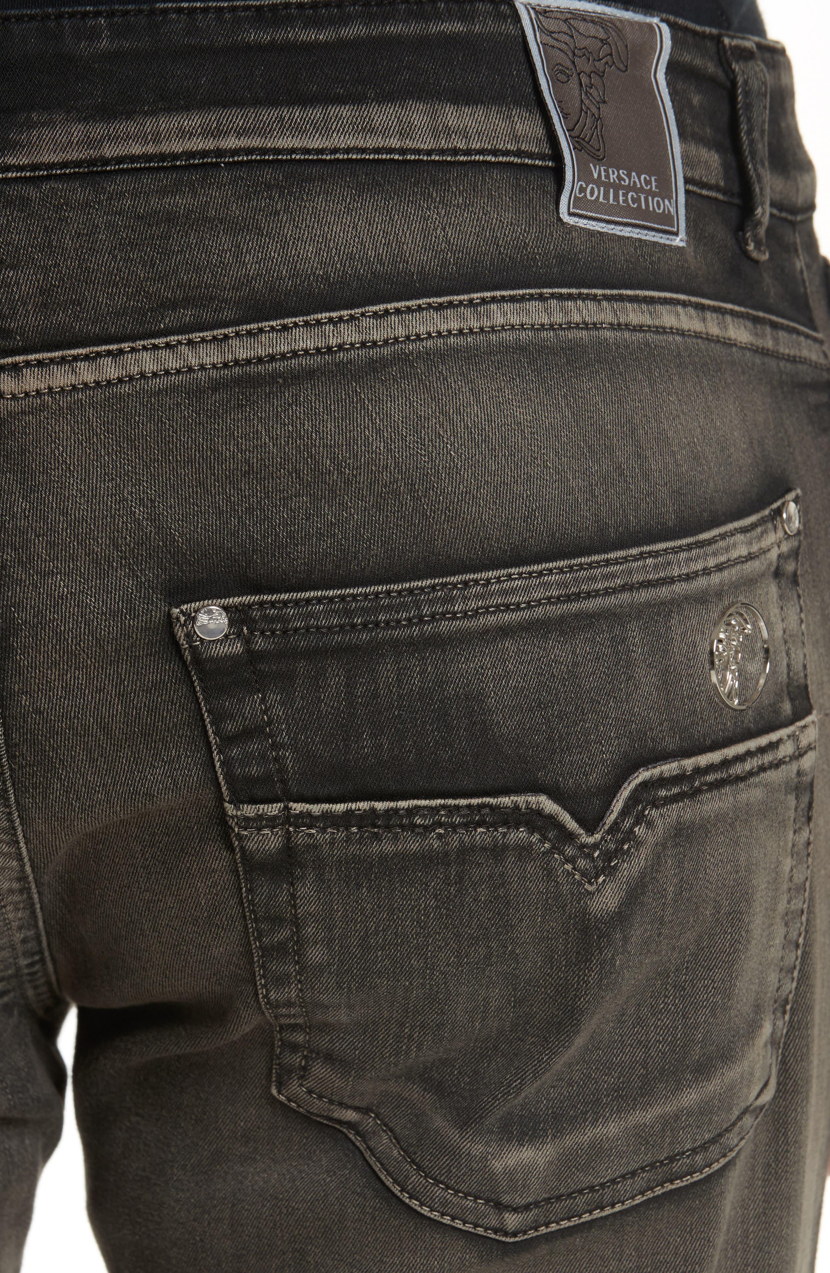 Destroyed Slim Jeans,                             Alternate thumbnail 5, color,                             250
