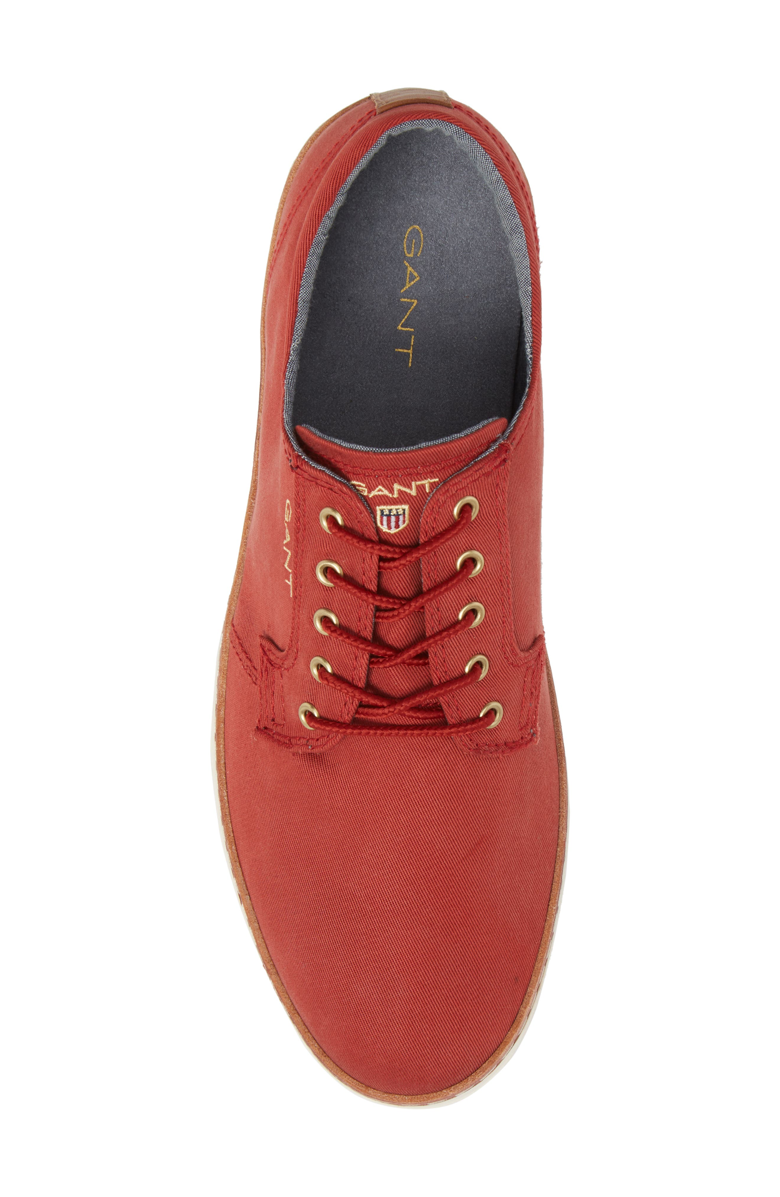 Bari Sneaker,                             Alternate thumbnail 5, color,                             RED TWILL