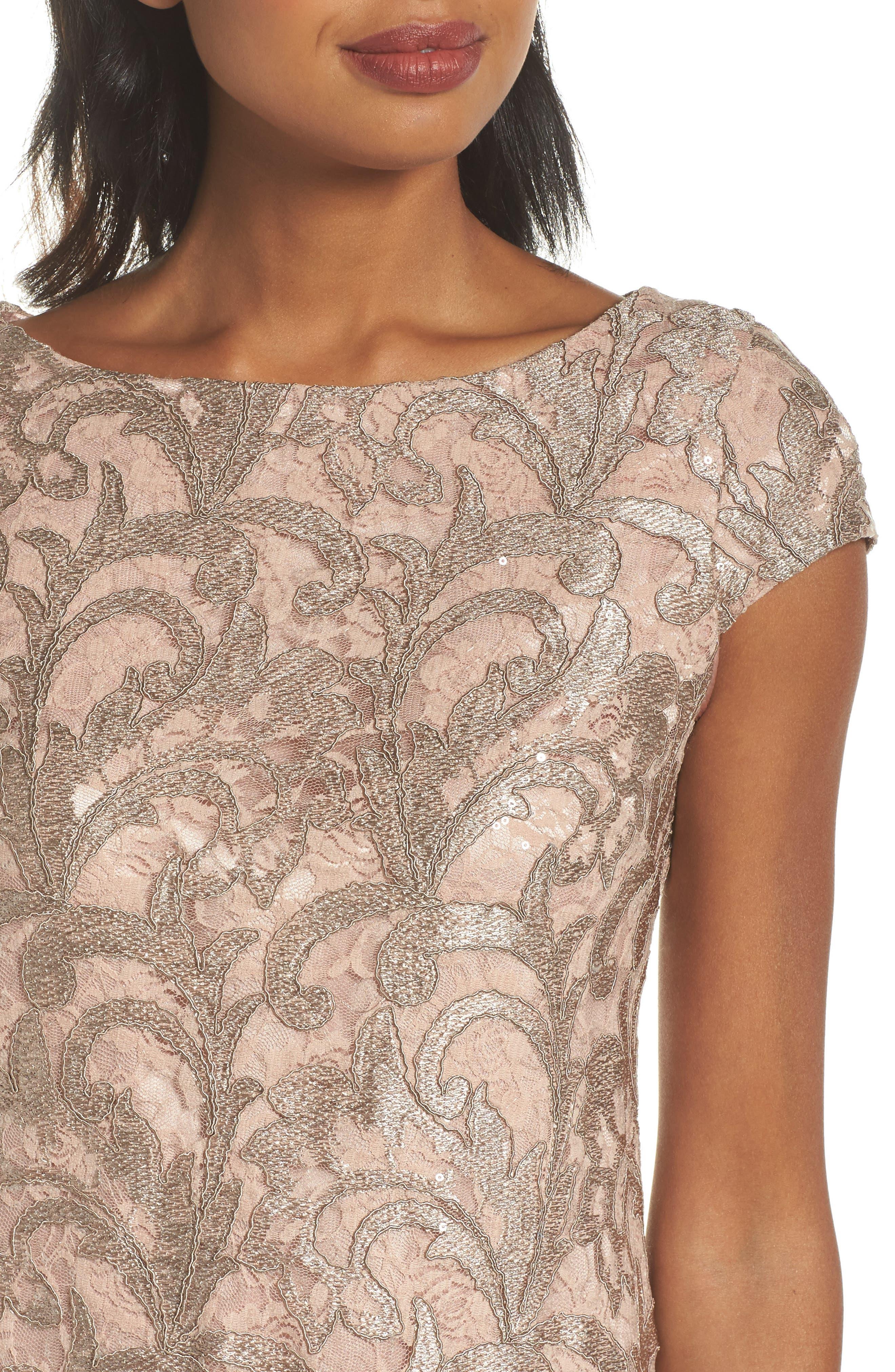 Lace Shift Dress,                             Alternate thumbnail 4, color,                             684