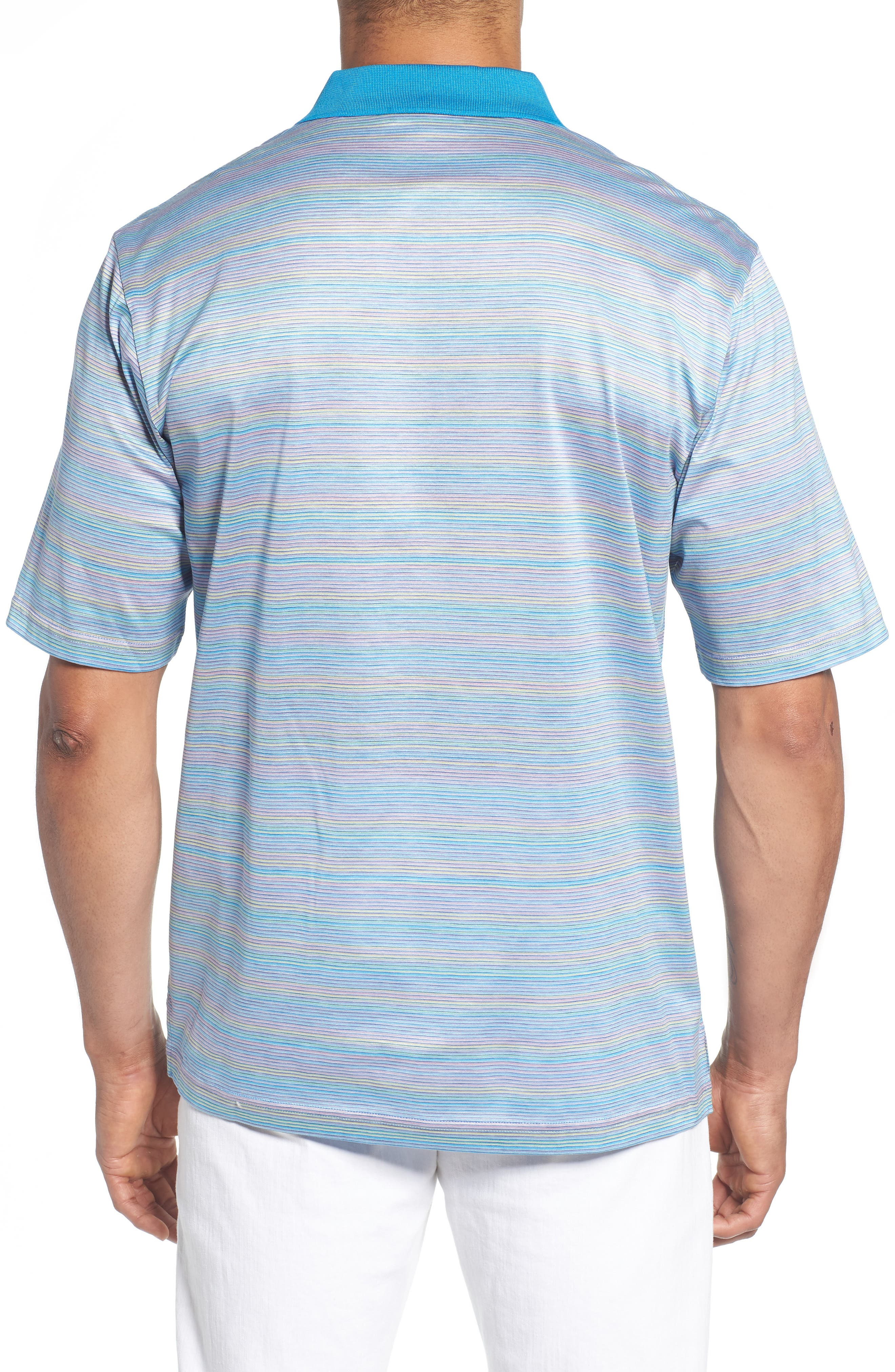Stripe Mercerized Cotton Polo,                             Alternate thumbnail 2, color,                             LILAC
