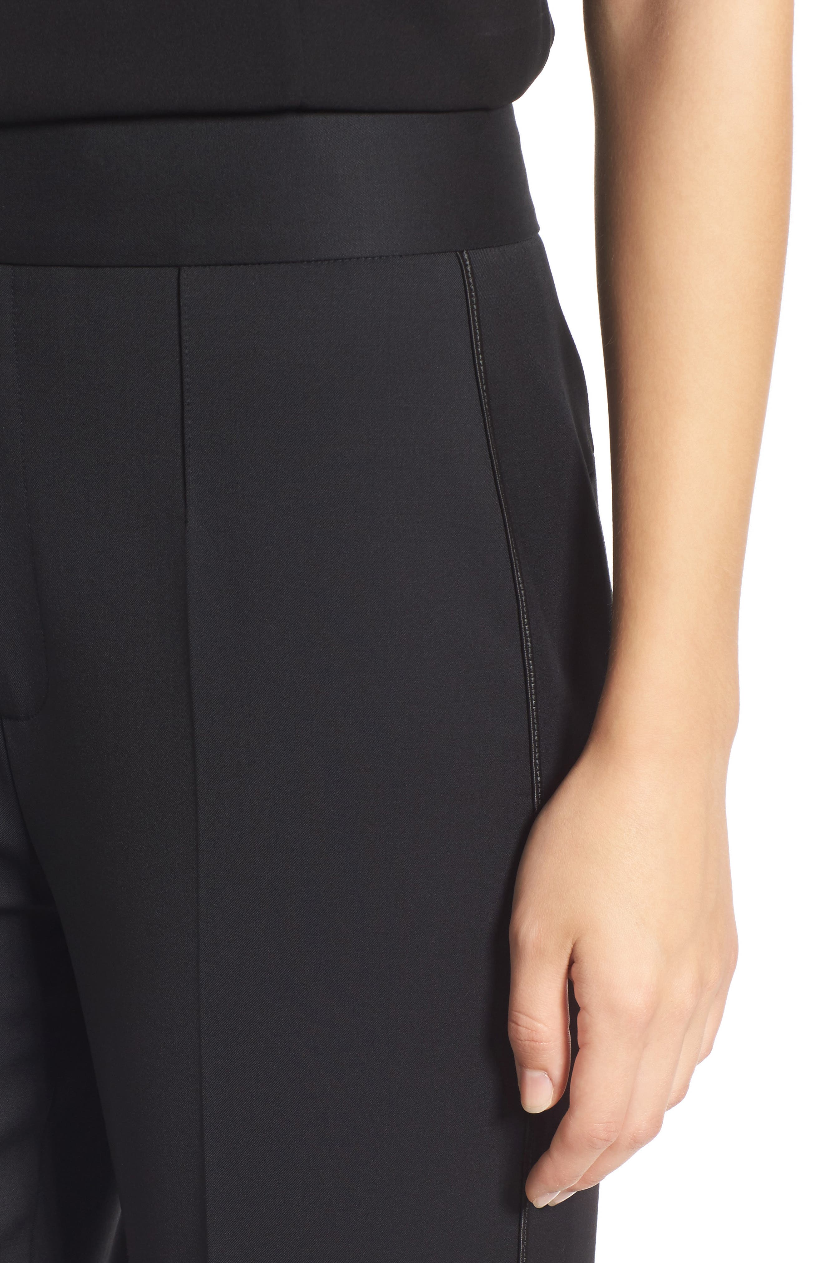 Tuxedo Detail Suit Trousers,                             Alternate thumbnail 4, color,                             001