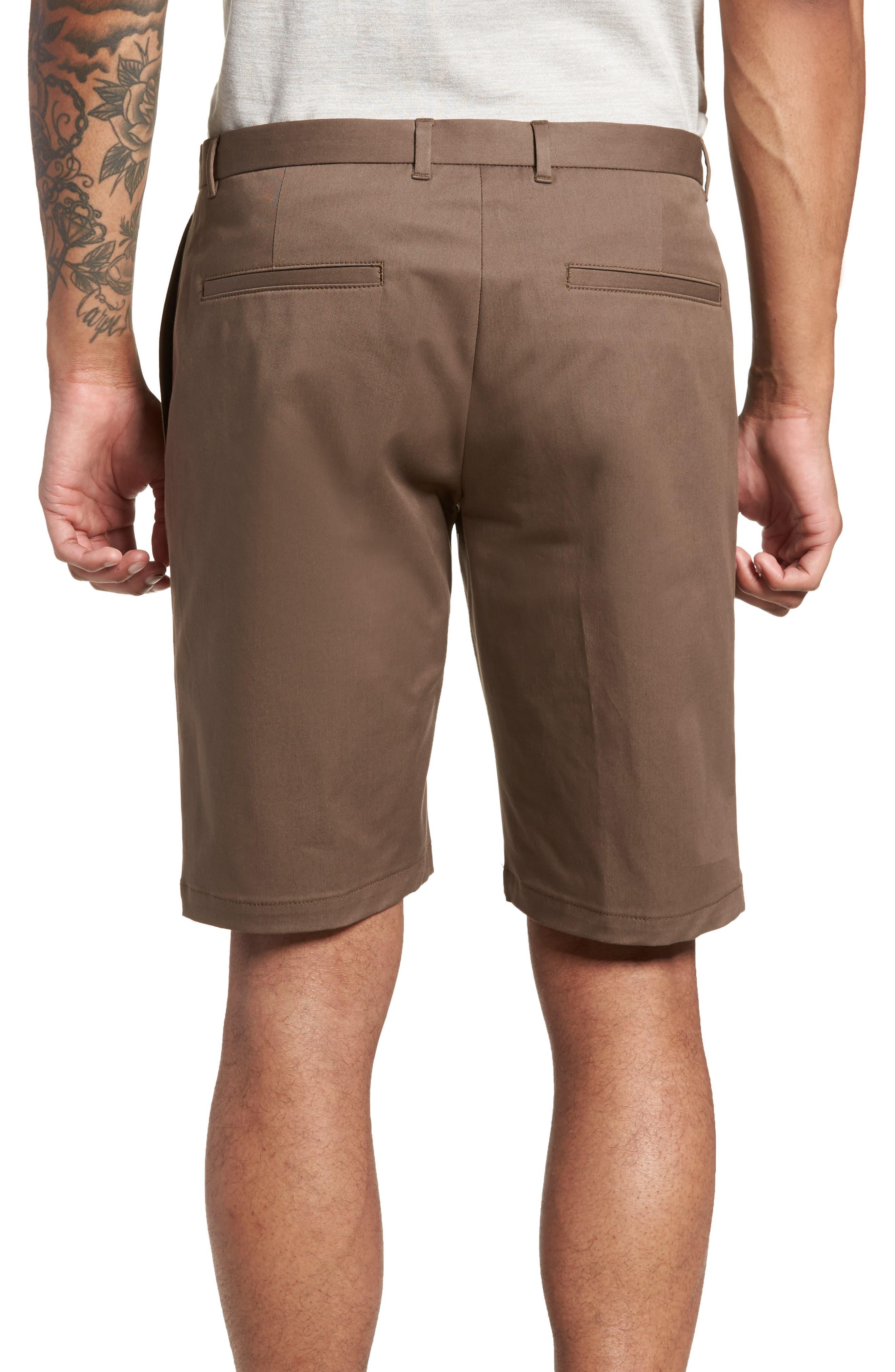 HUGO,                             Hano Flat Front Shorts,                             Alternate thumbnail 2, color,                             250