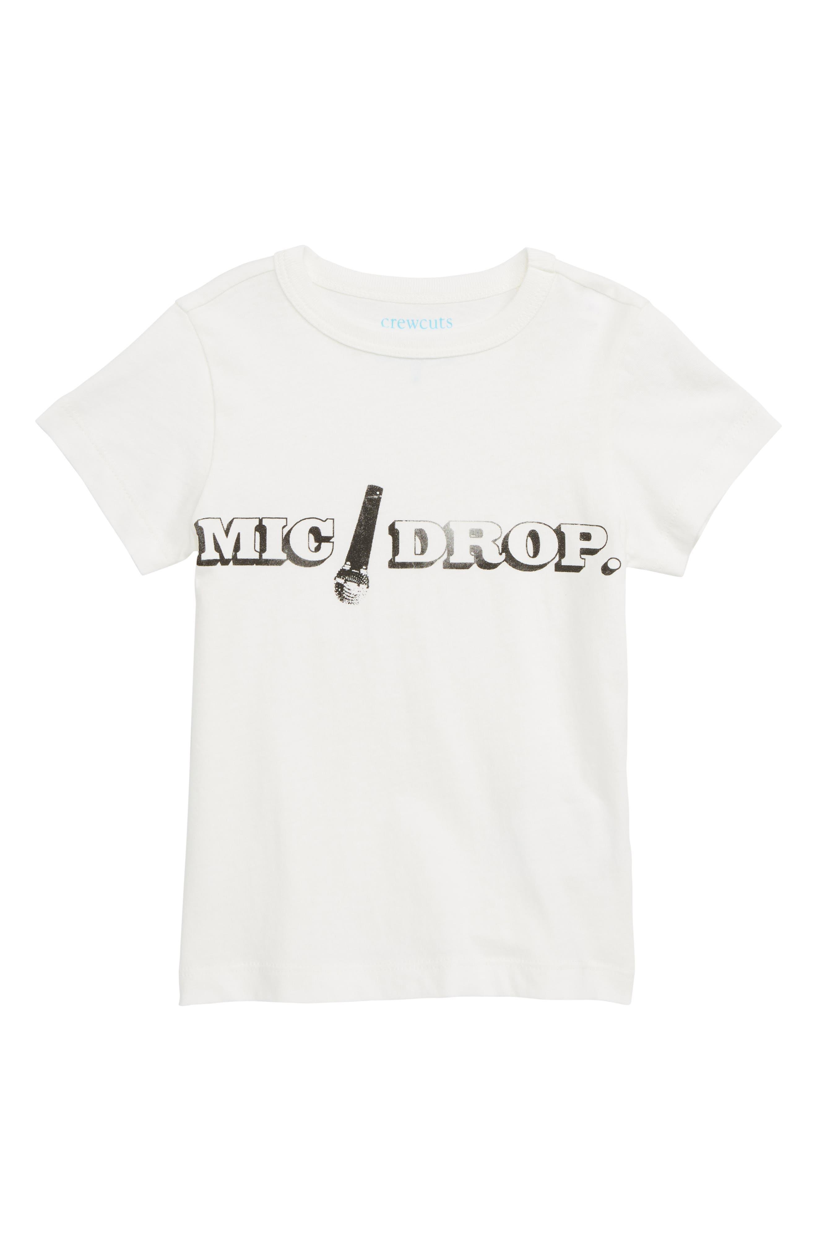 Mic Drop T-Shirt,                             Main thumbnail 1, color,                             IVORY