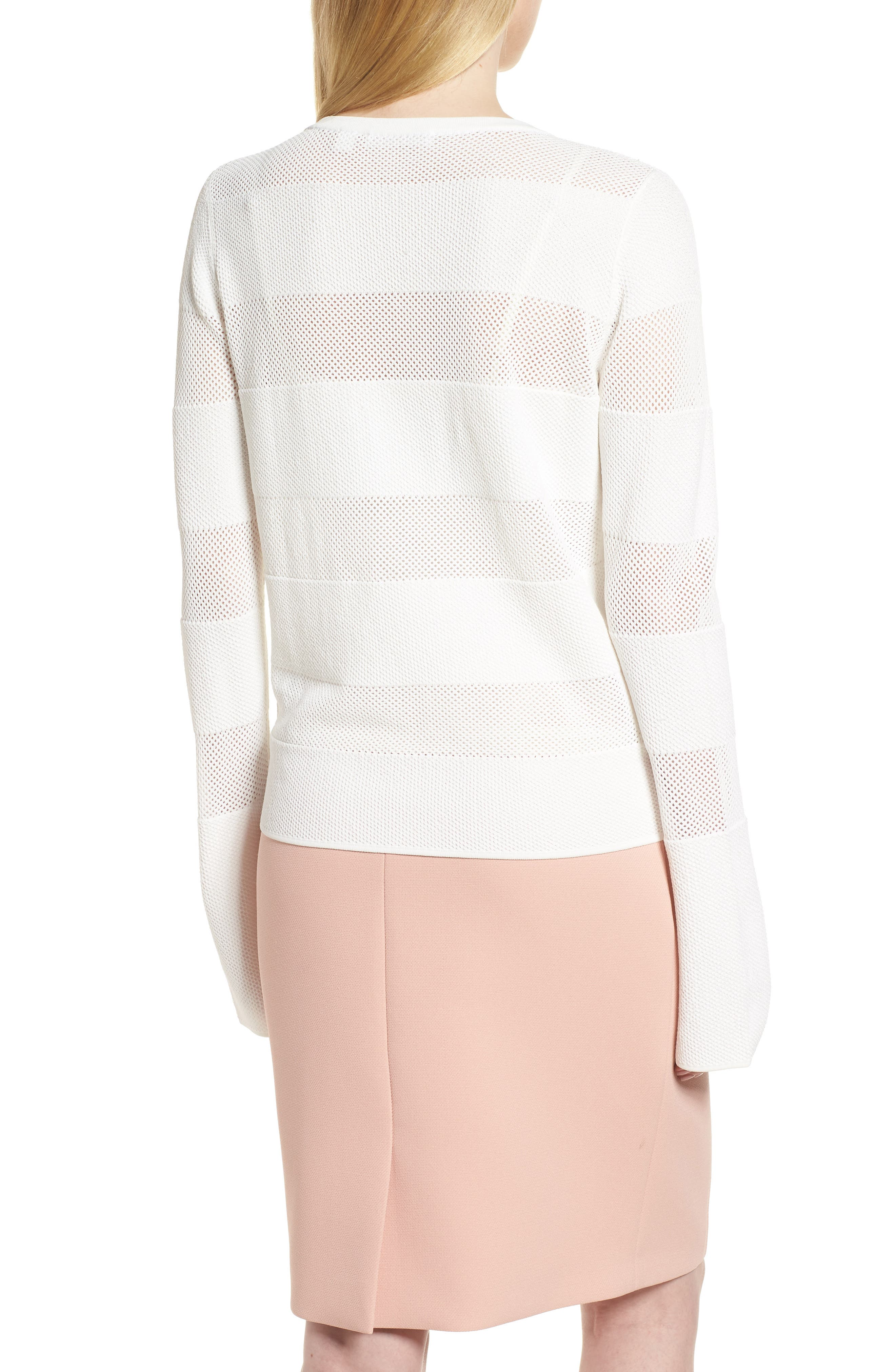 Frangy Mesh Stripe Sweater,                             Alternate thumbnail 2, color,                             112