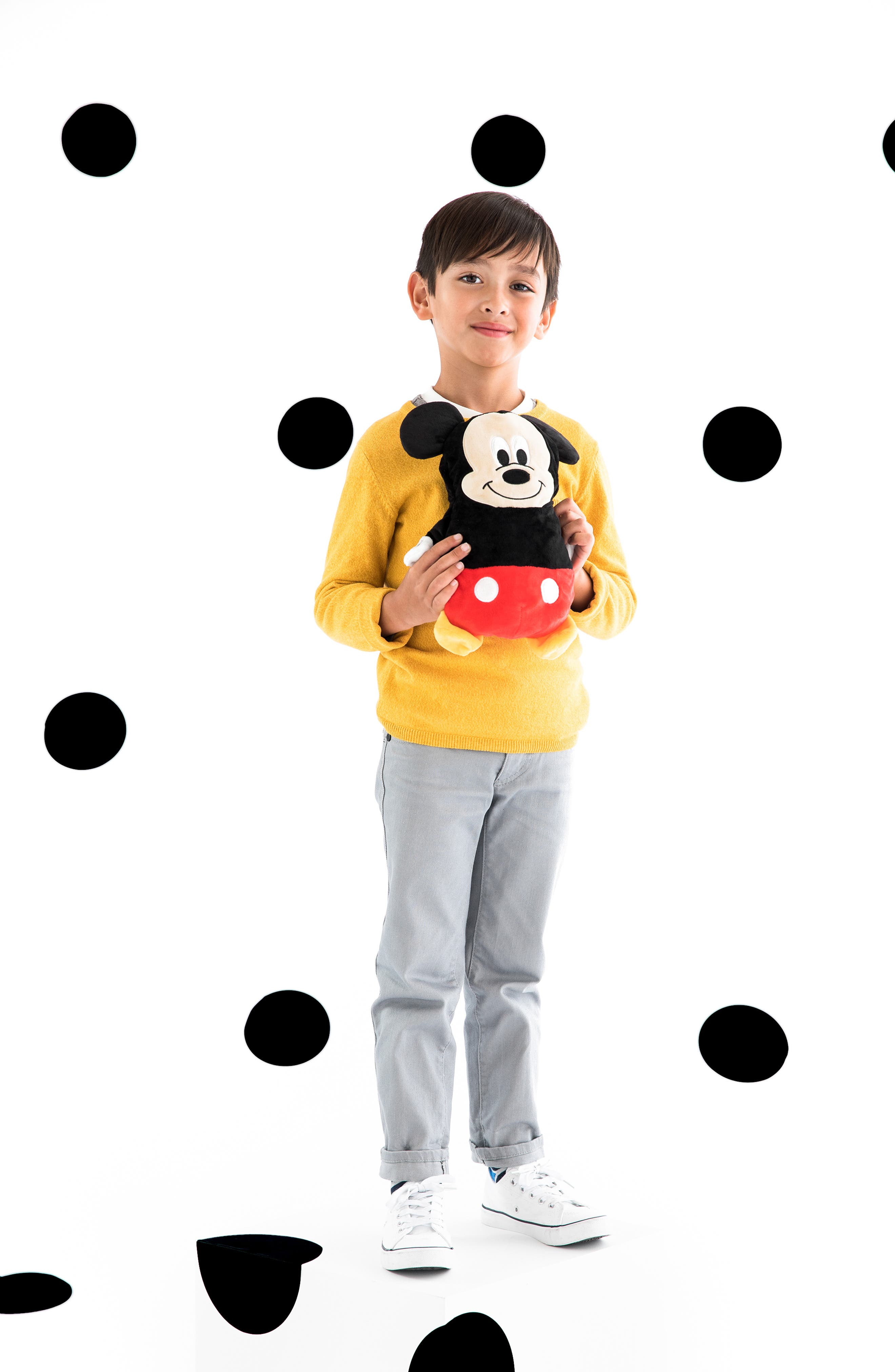 Mickey Mouse<sup>®</sup> 2-in-1 Stuffed Animal Hoodie,                             Alternate thumbnail 10, color,                             BLACK / RED MIX
