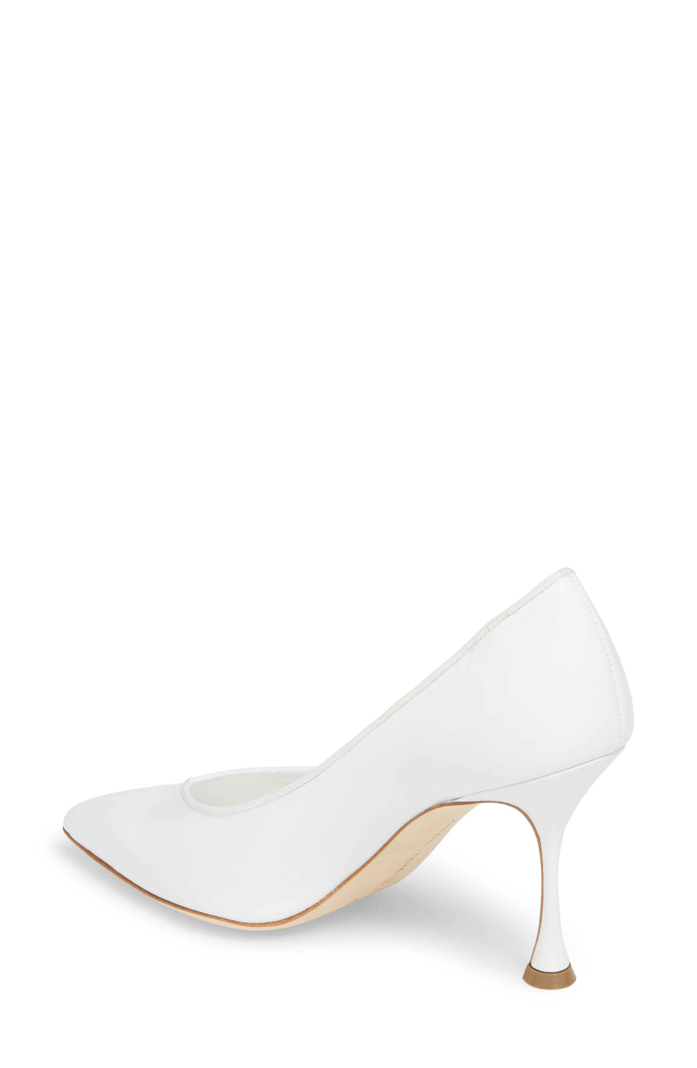 Urgenzapla Pointy Toe Pump,                             Alternate thumbnail 2, color,                             WHITE LEATHER