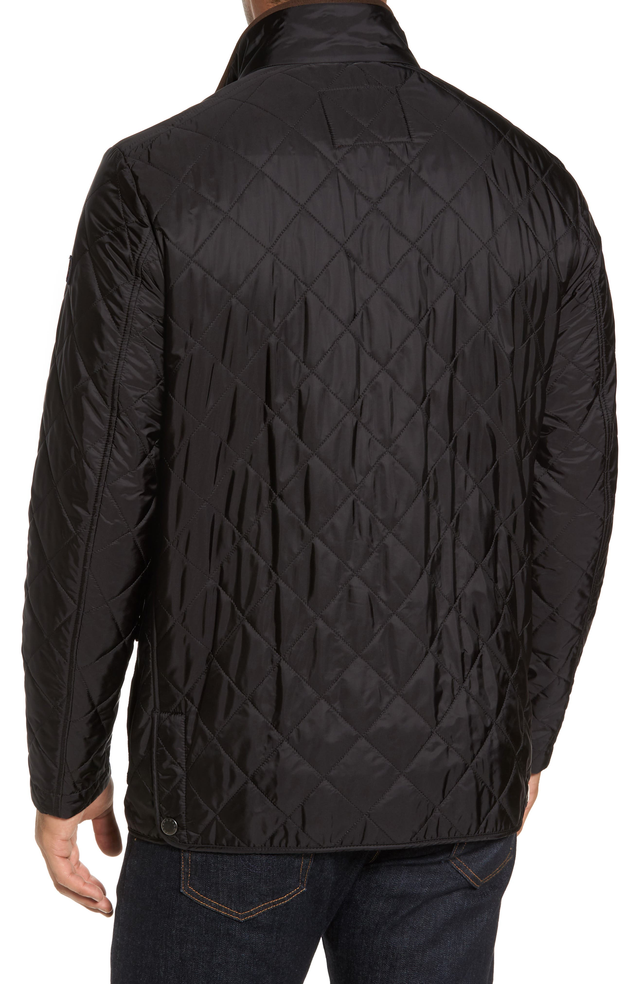 Paul&Shark Fleece Lined Quilted Jacket,                             Alternate thumbnail 2, color,                             001