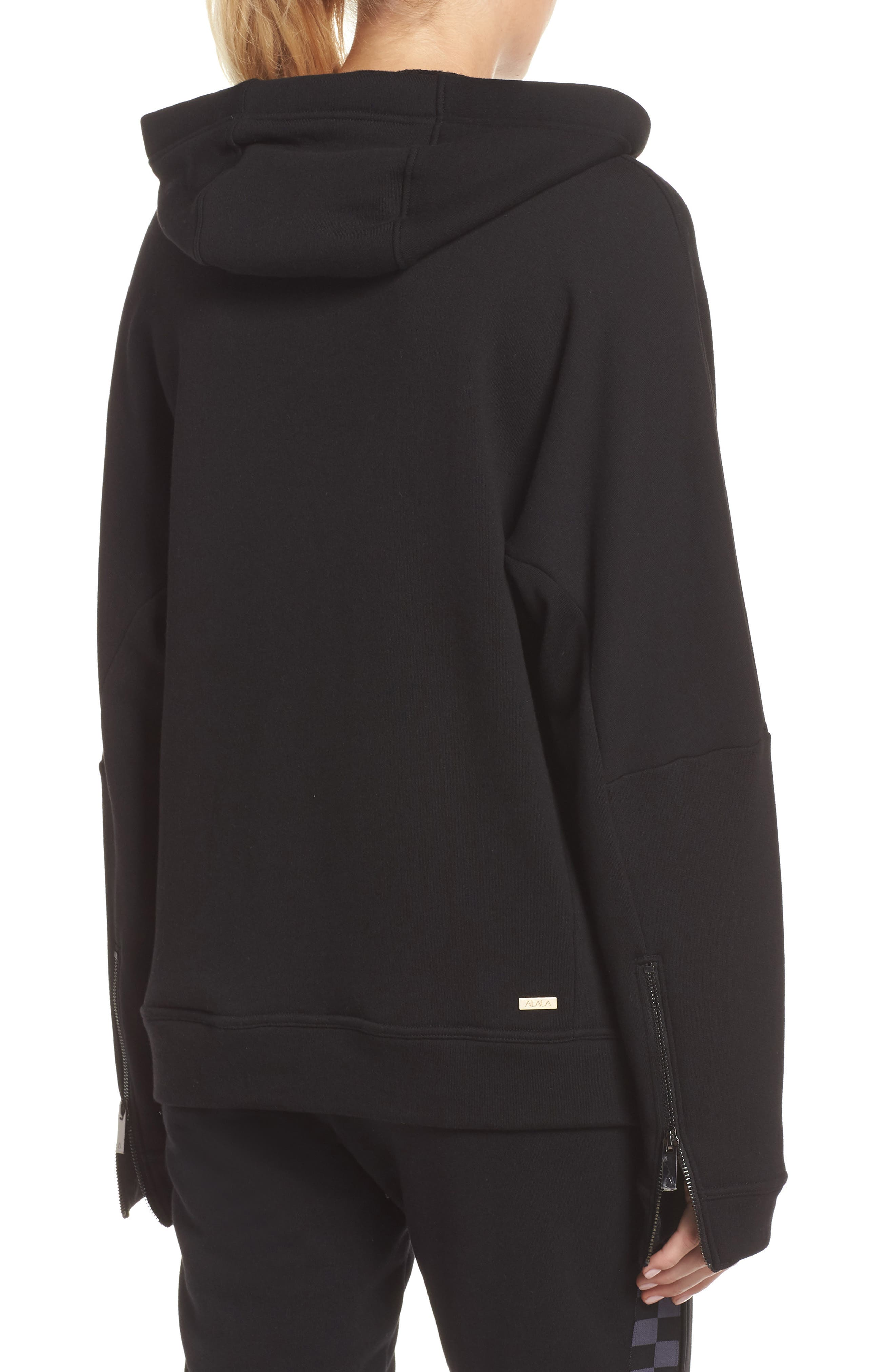 Shift Hoodie Sweatshirt,                             Alternate thumbnail 2, color,                             BLACK/ CHECKER