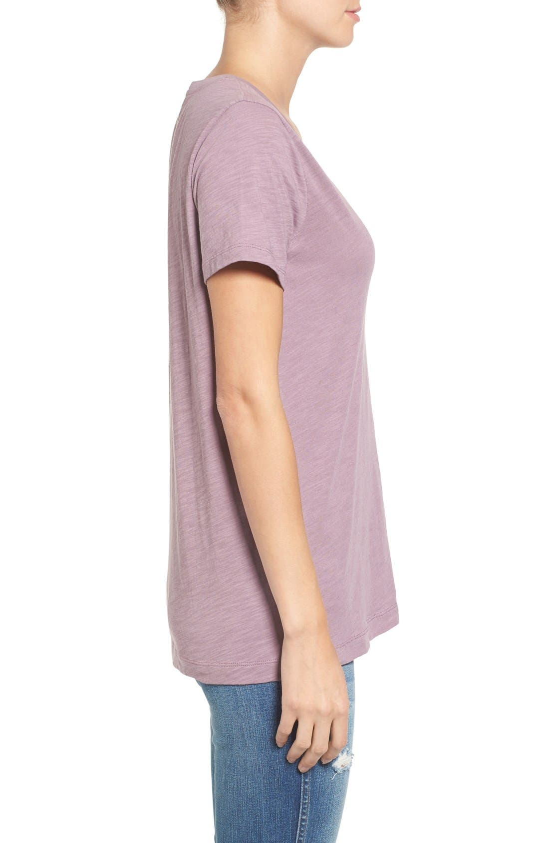 Whisper Cotton V-Neck Pocket Tee,                             Alternate thumbnail 113, color,