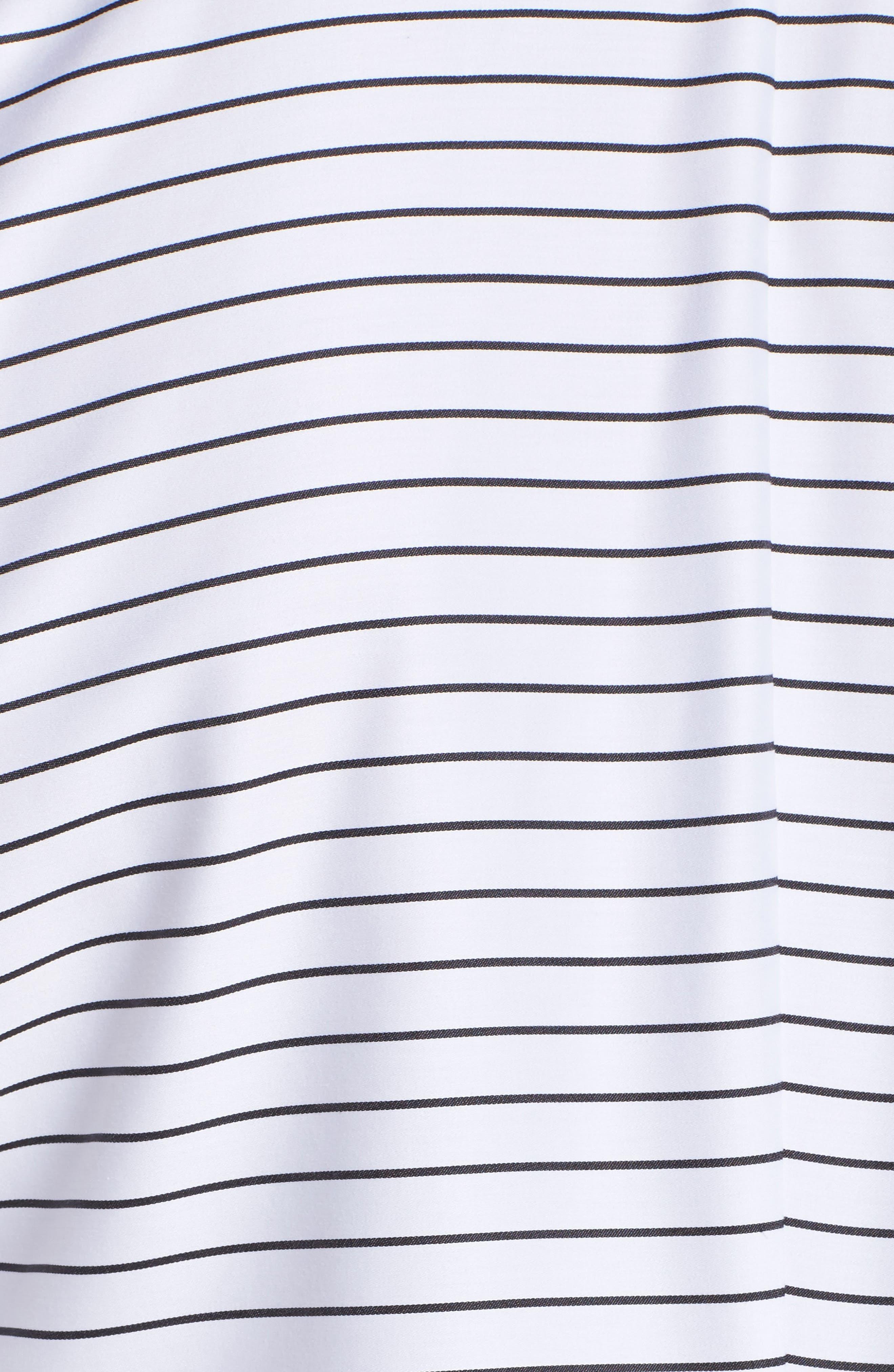 Gina Holiday Stripe Shirt,                             Alternate thumbnail 5, color,                             100