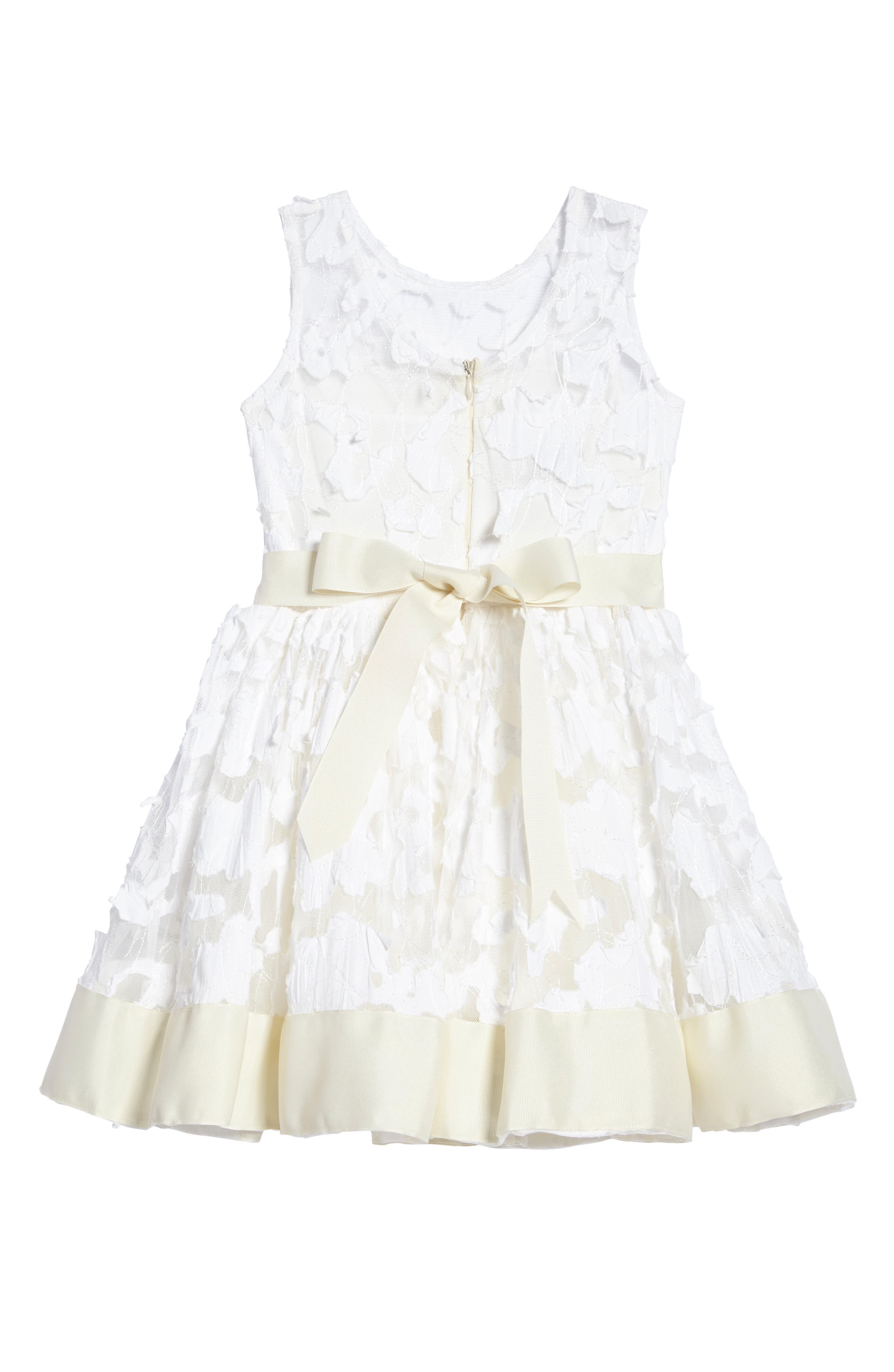 'Pretty in Ivory' Party Dress,                             Alternate thumbnail 3, color,