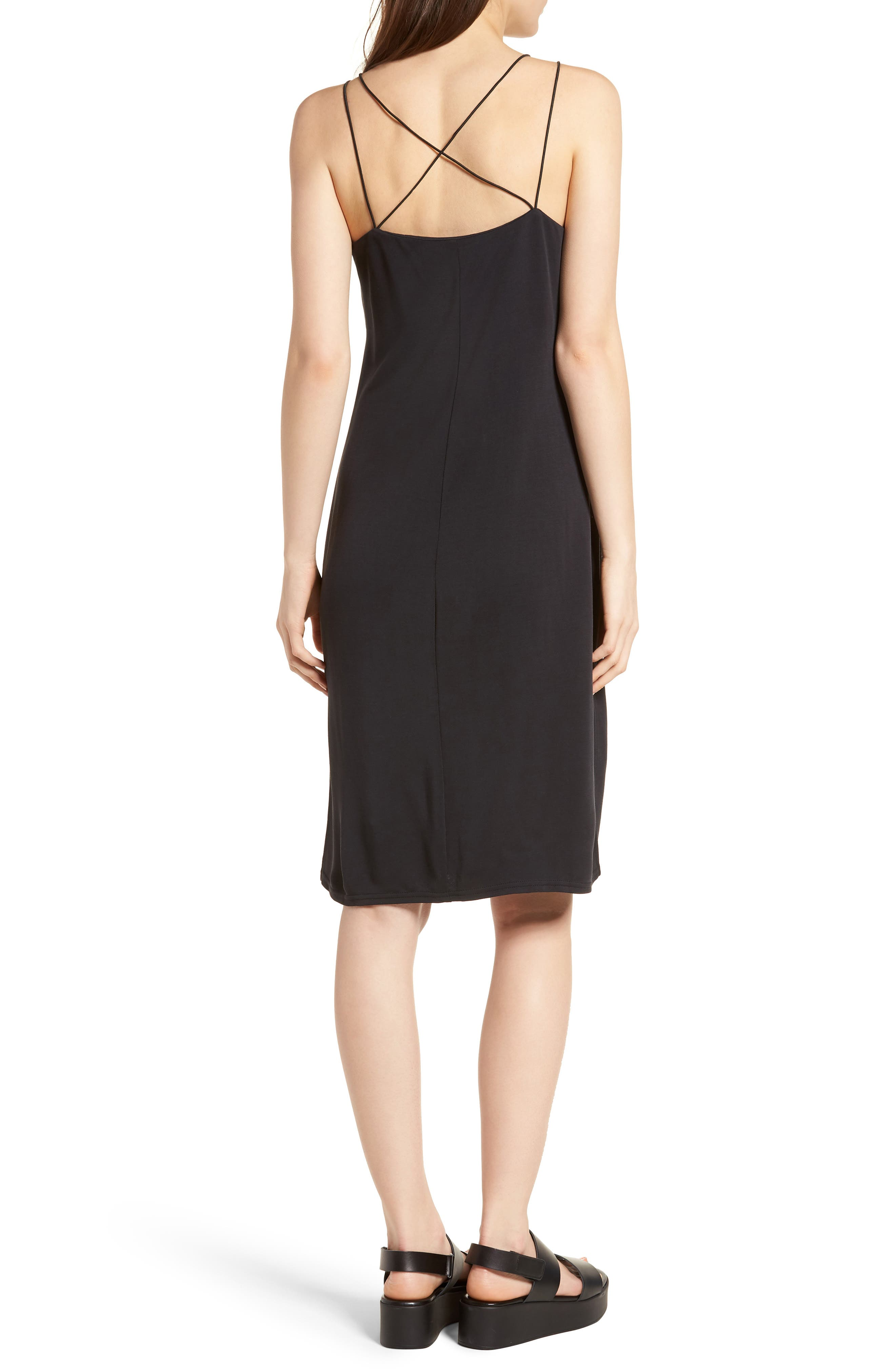 Alley Strappy Camisole Dress,                             Alternate thumbnail 2, color,                             001