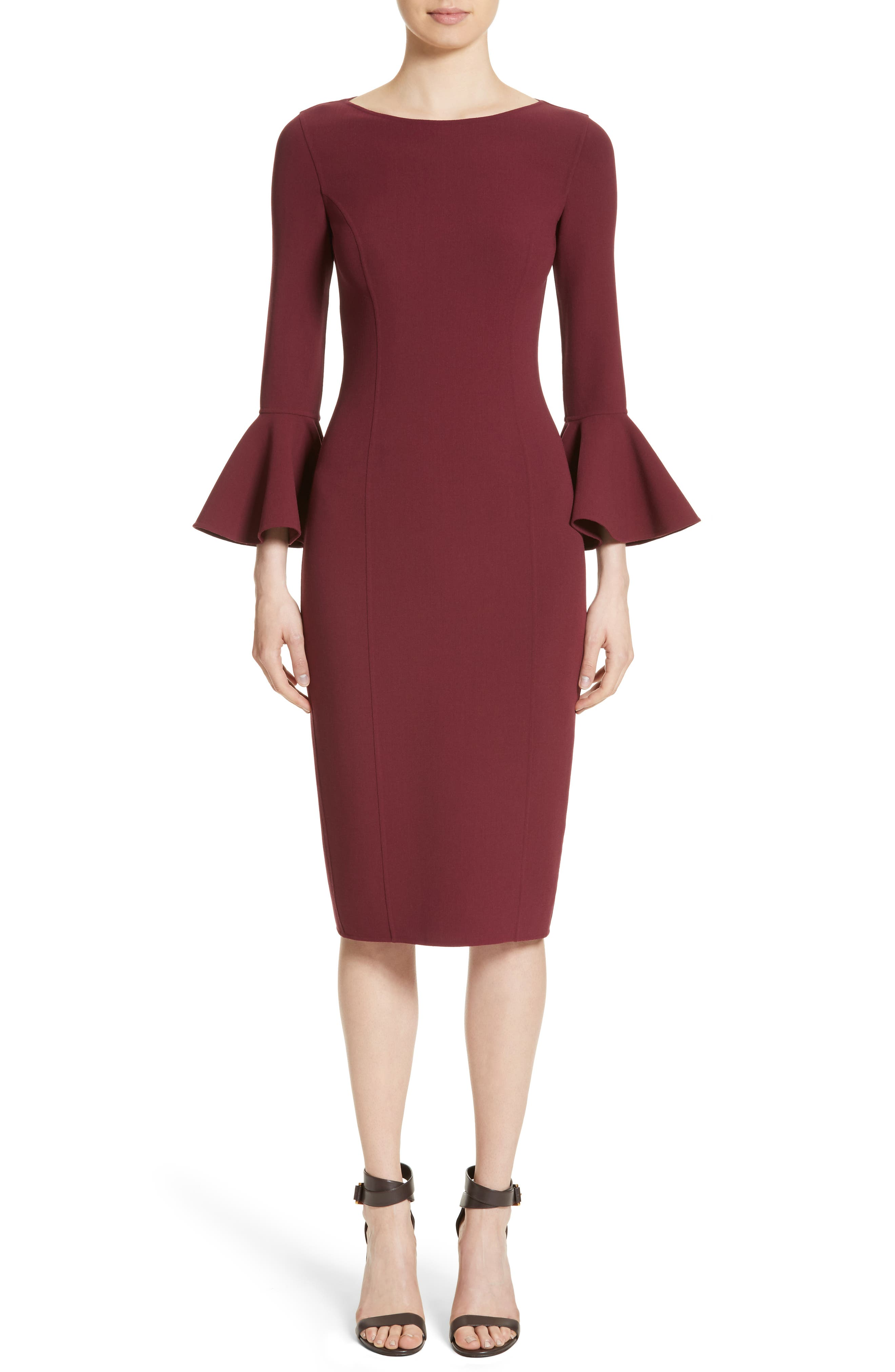 Bell Cuff Sheath Dress,                             Alternate thumbnail 5, color,                             608