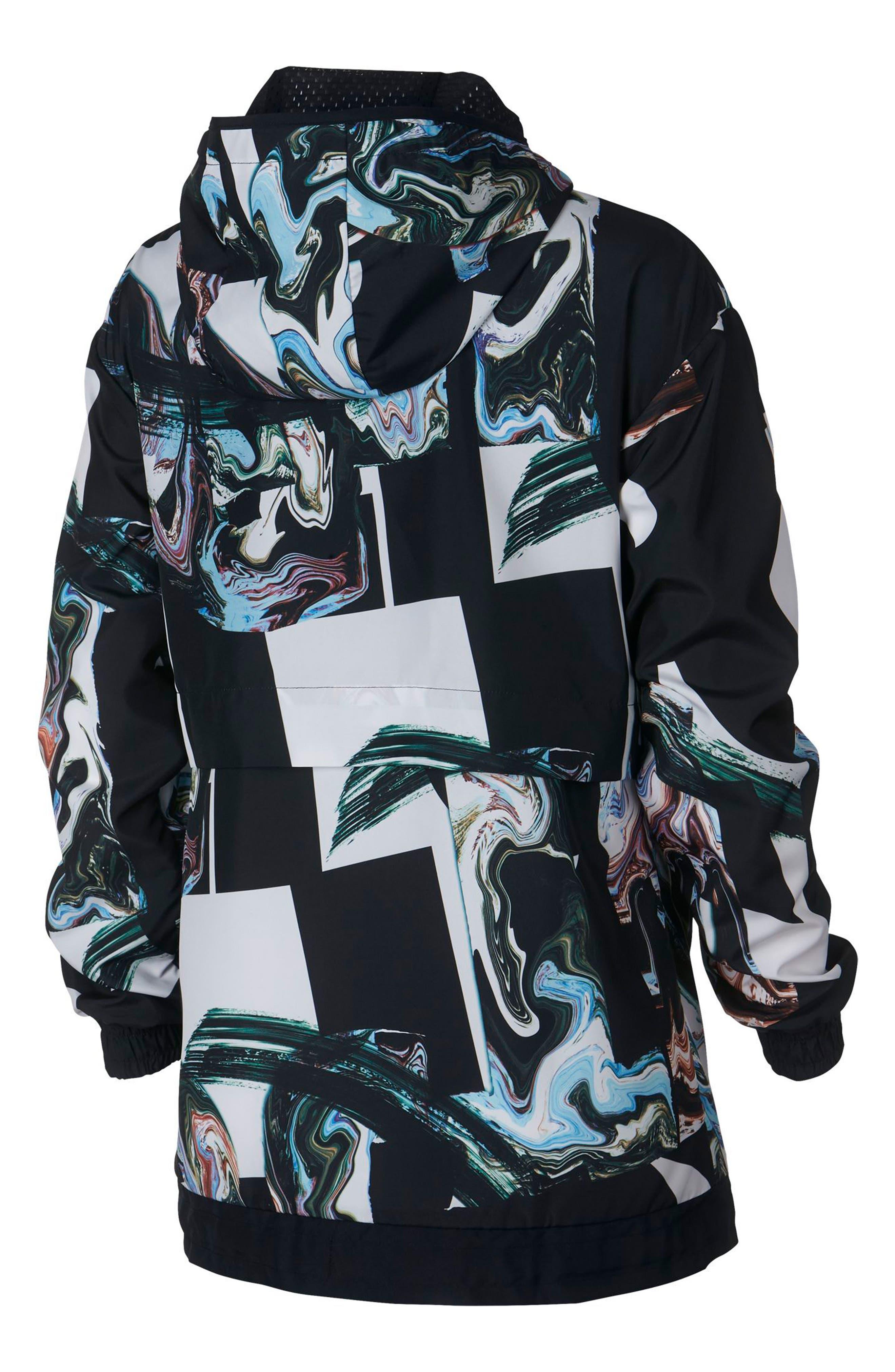 Sportswear Women's Marble Print Hooded Jacket,                             Alternate thumbnail 2, color,