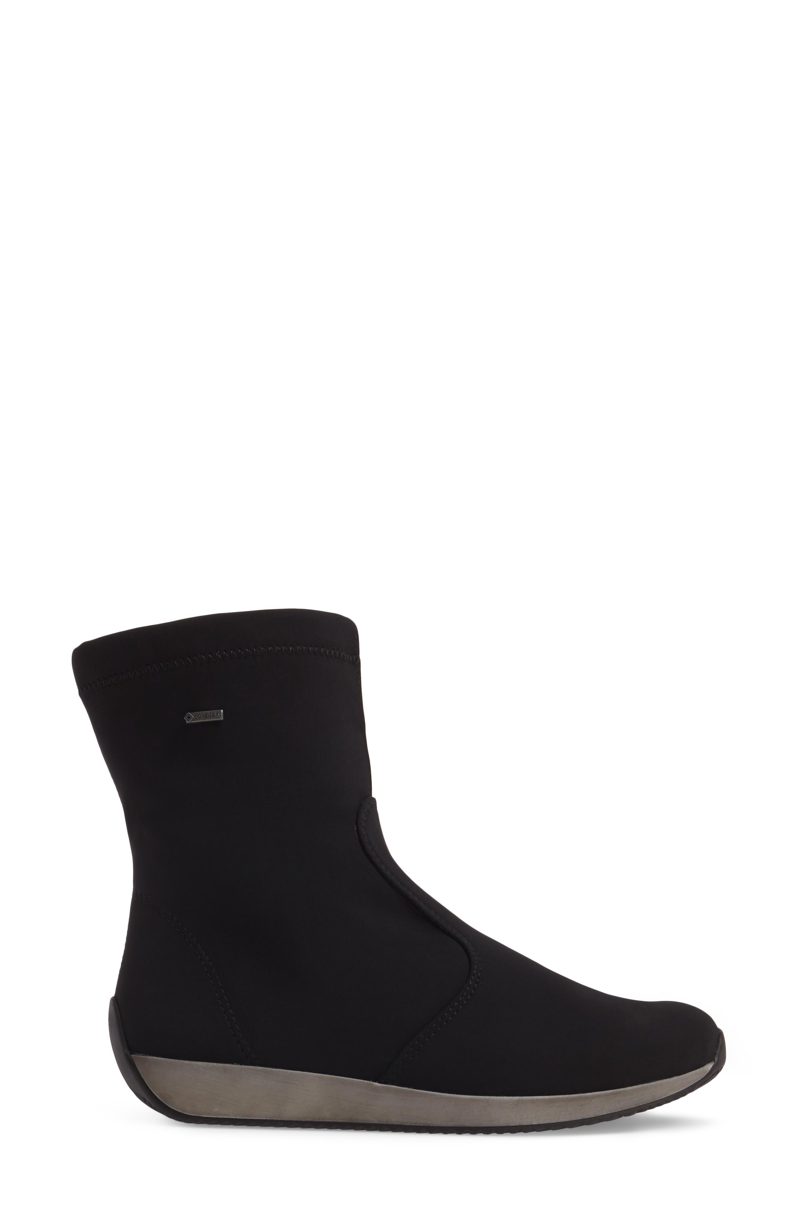 Luella Waterproof Gore-Tex<sup>®</sup> Boot,                             Alternate thumbnail 3, color,                             001