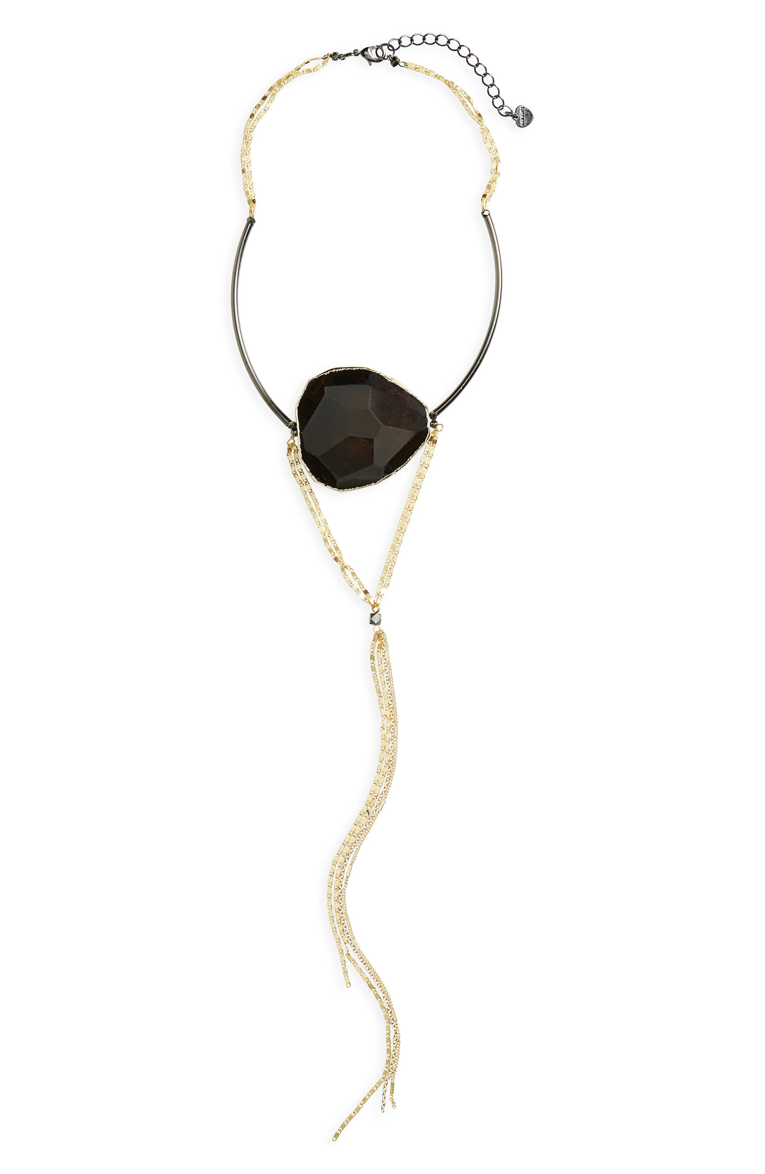 Agate Pendant Choker Y-Necklace,                         Main,                         color, 001