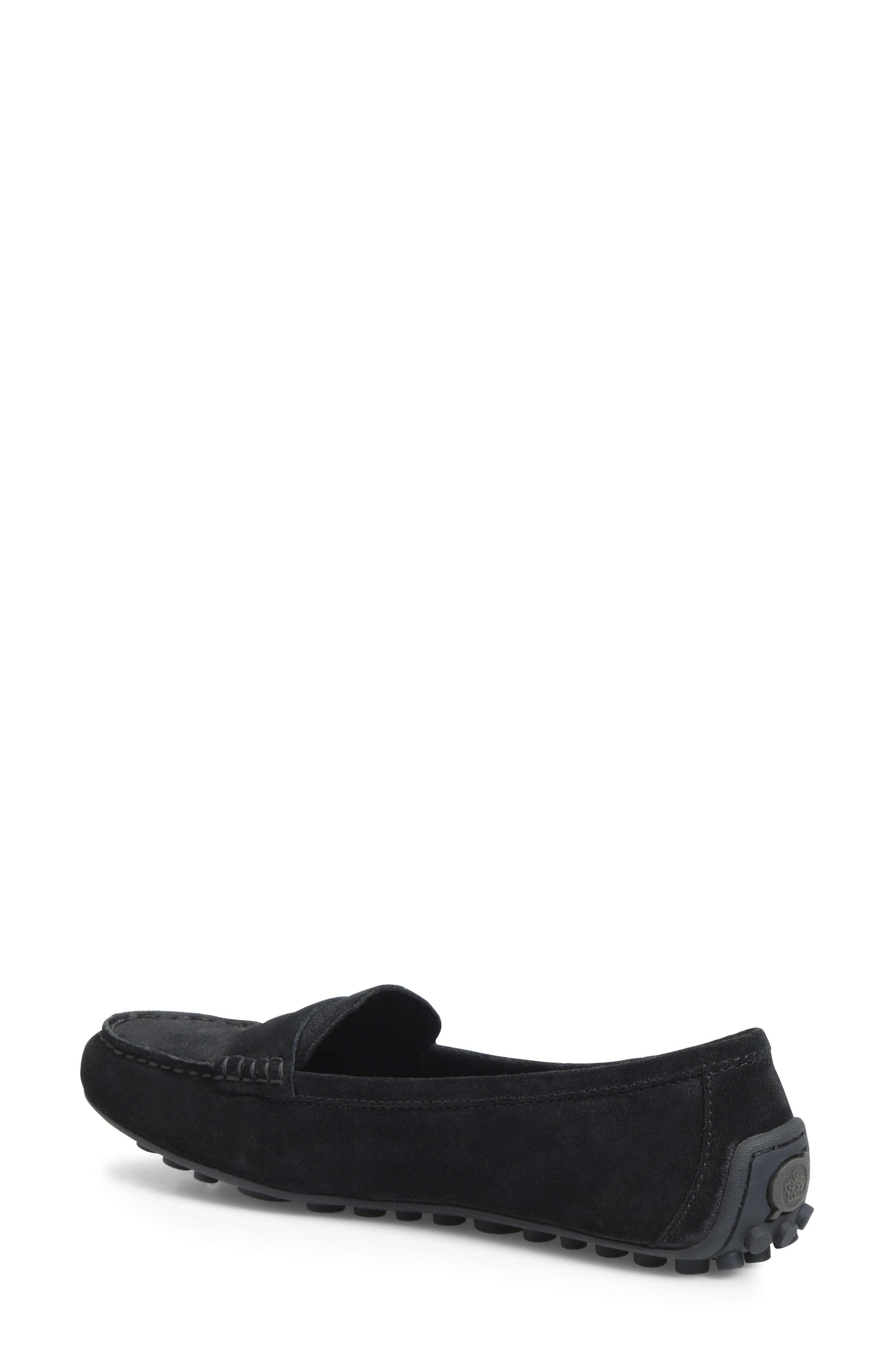 Malena Penny Loafer,                             Alternate thumbnail 2, color,                             BLACK SUEDE