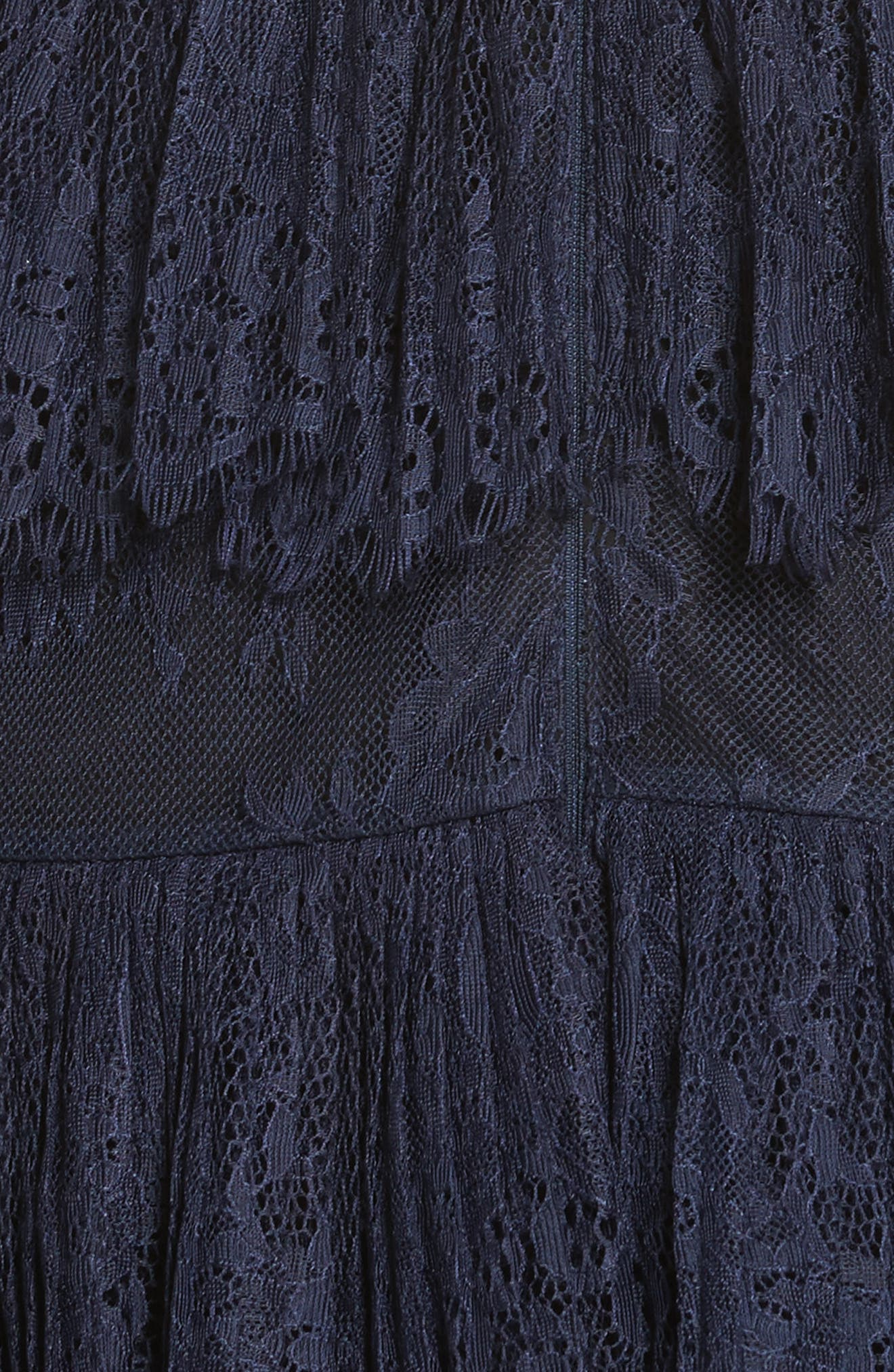 Pleated Lace Dress,                             Alternate thumbnail 5, color,                             400