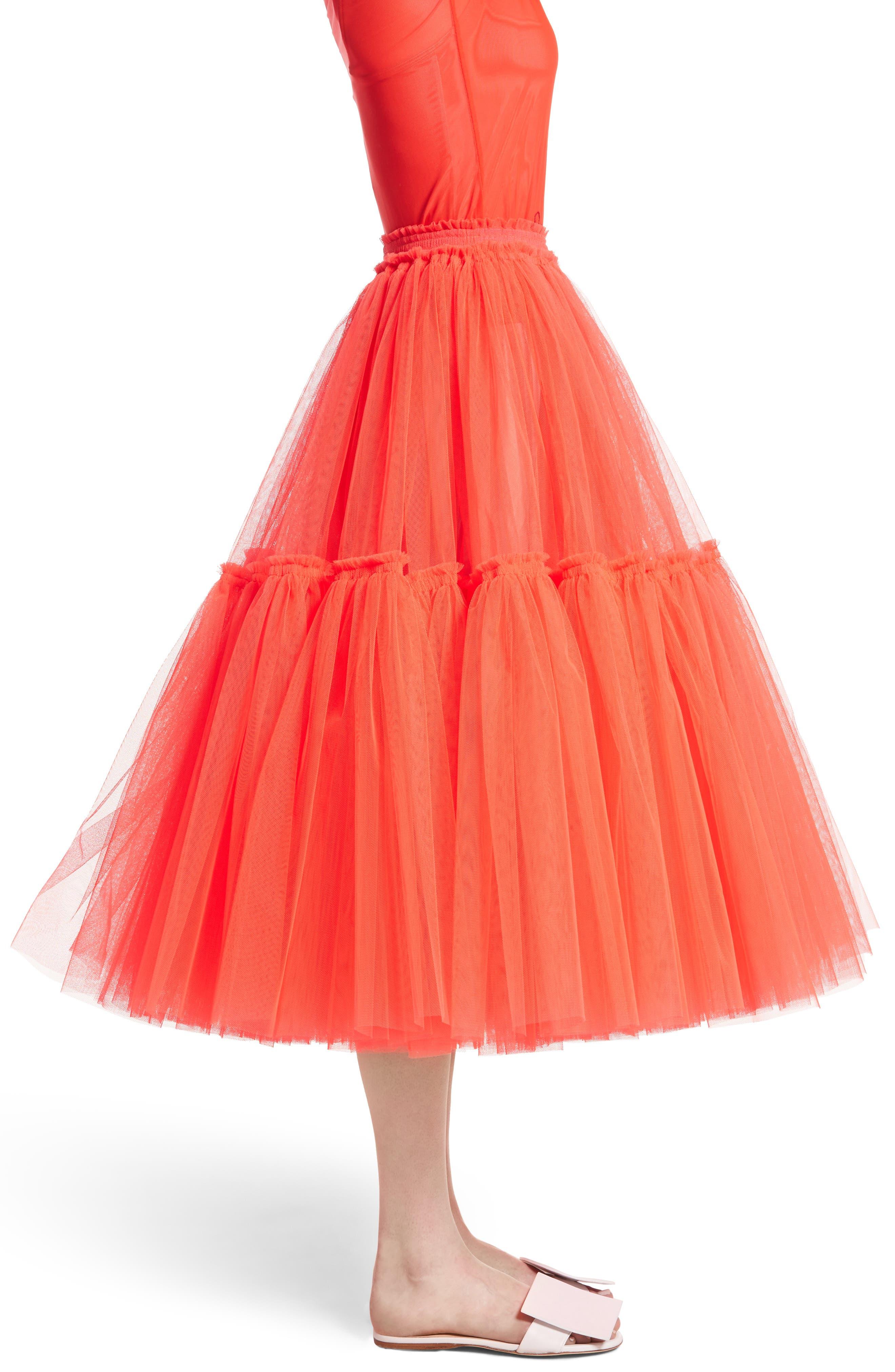 Gathered Tulle Skirt,                             Alternate thumbnail 6, color,