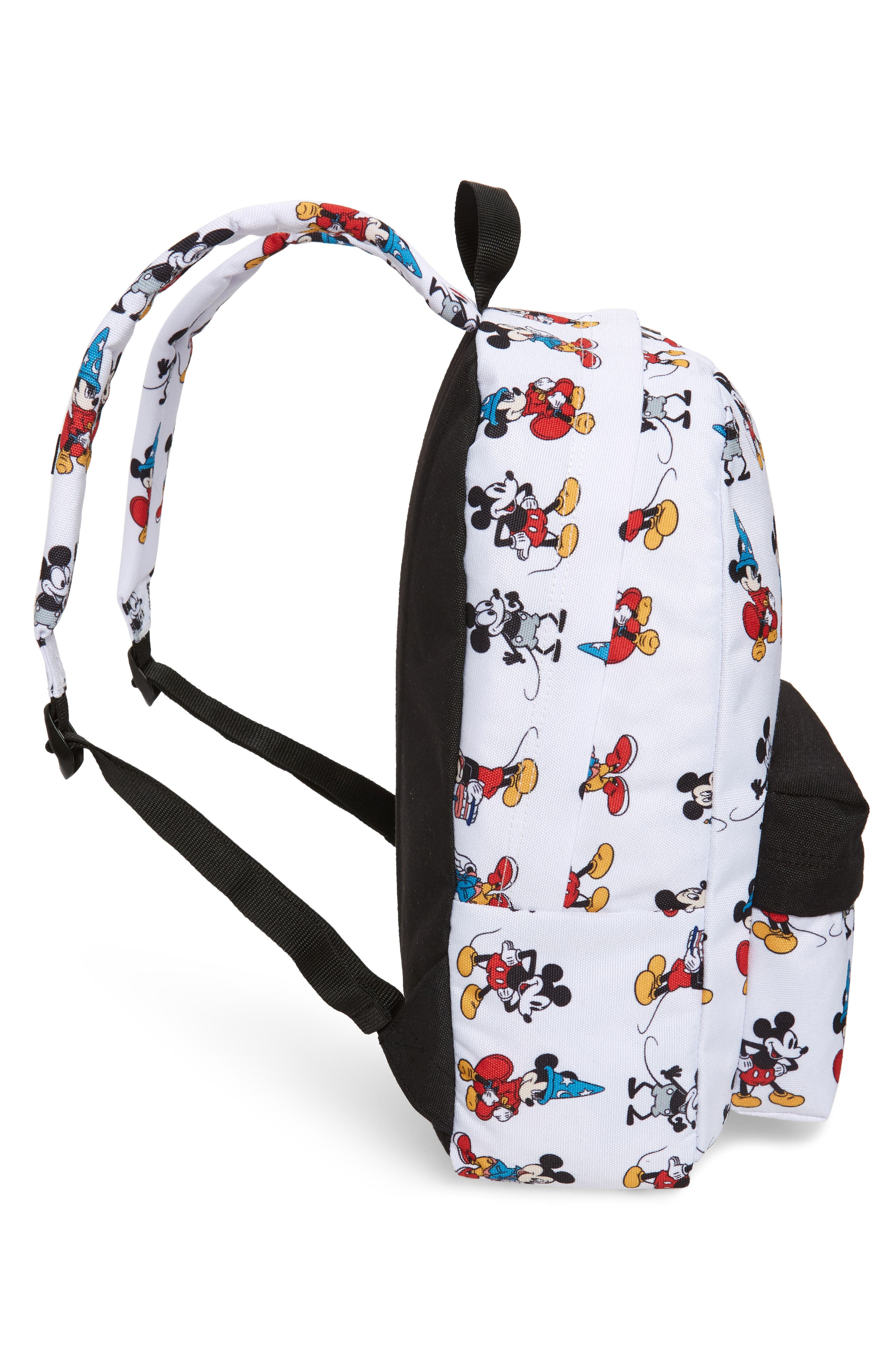 x Disney Mickey's 90th Anniversary - Mickey Through the Ages Backpack,                             Alternate thumbnail 5, color,                             WHITE