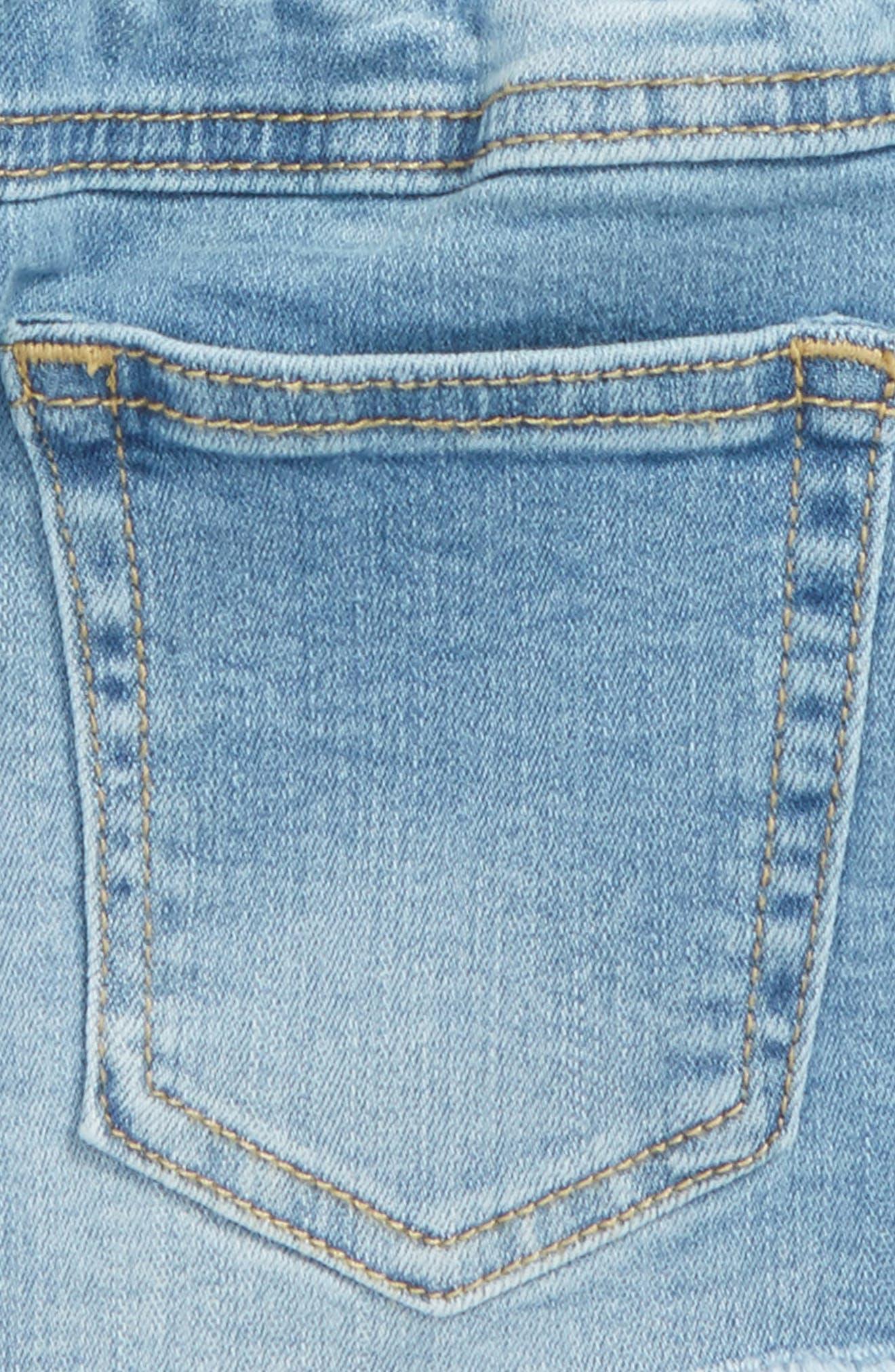 The Khloe Chambray Shorts,                             Alternate thumbnail 3, color,                             405