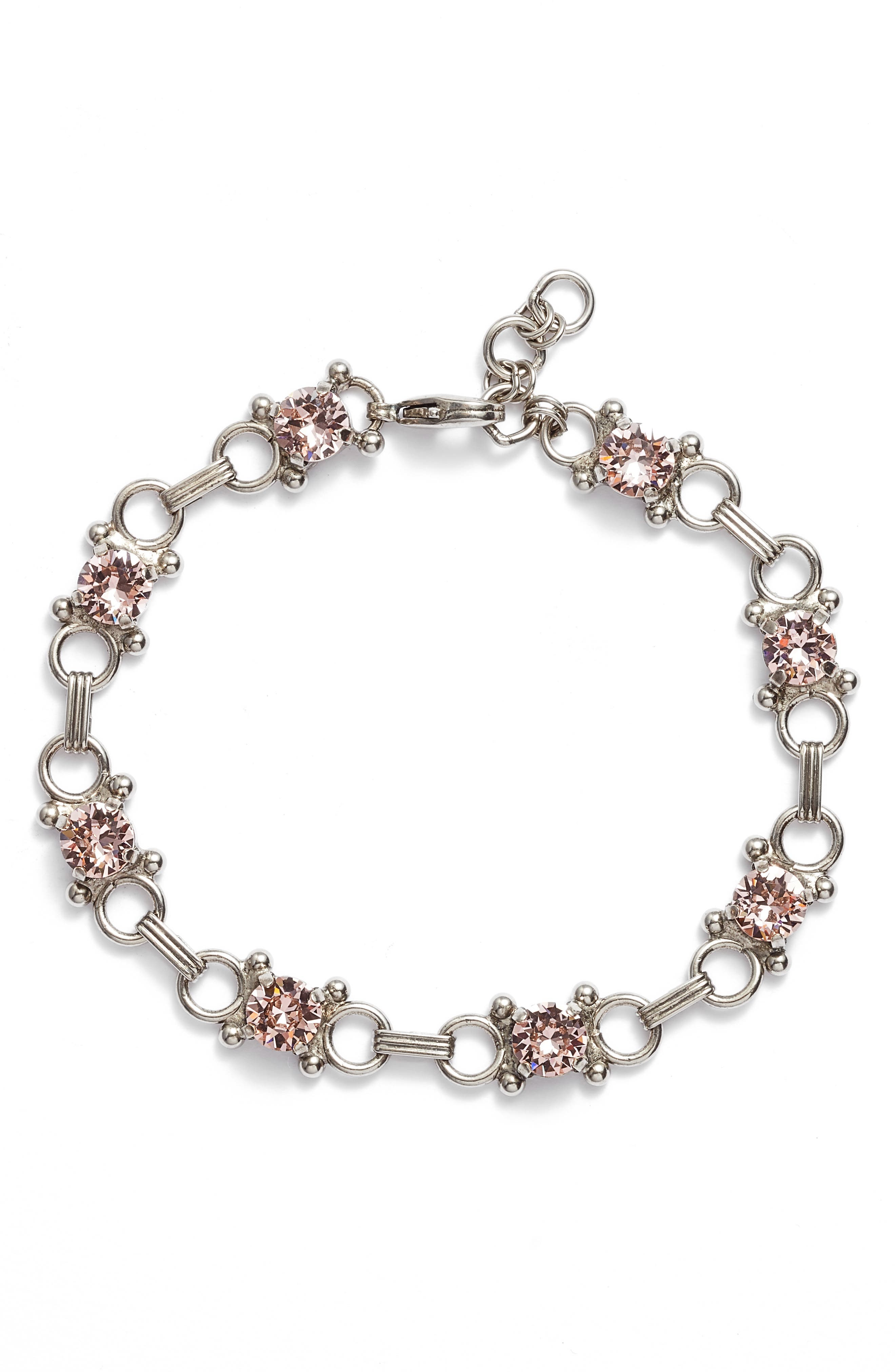 Mini Eyelet Line Crystal Bracelet,                             Main thumbnail 1, color,                             650