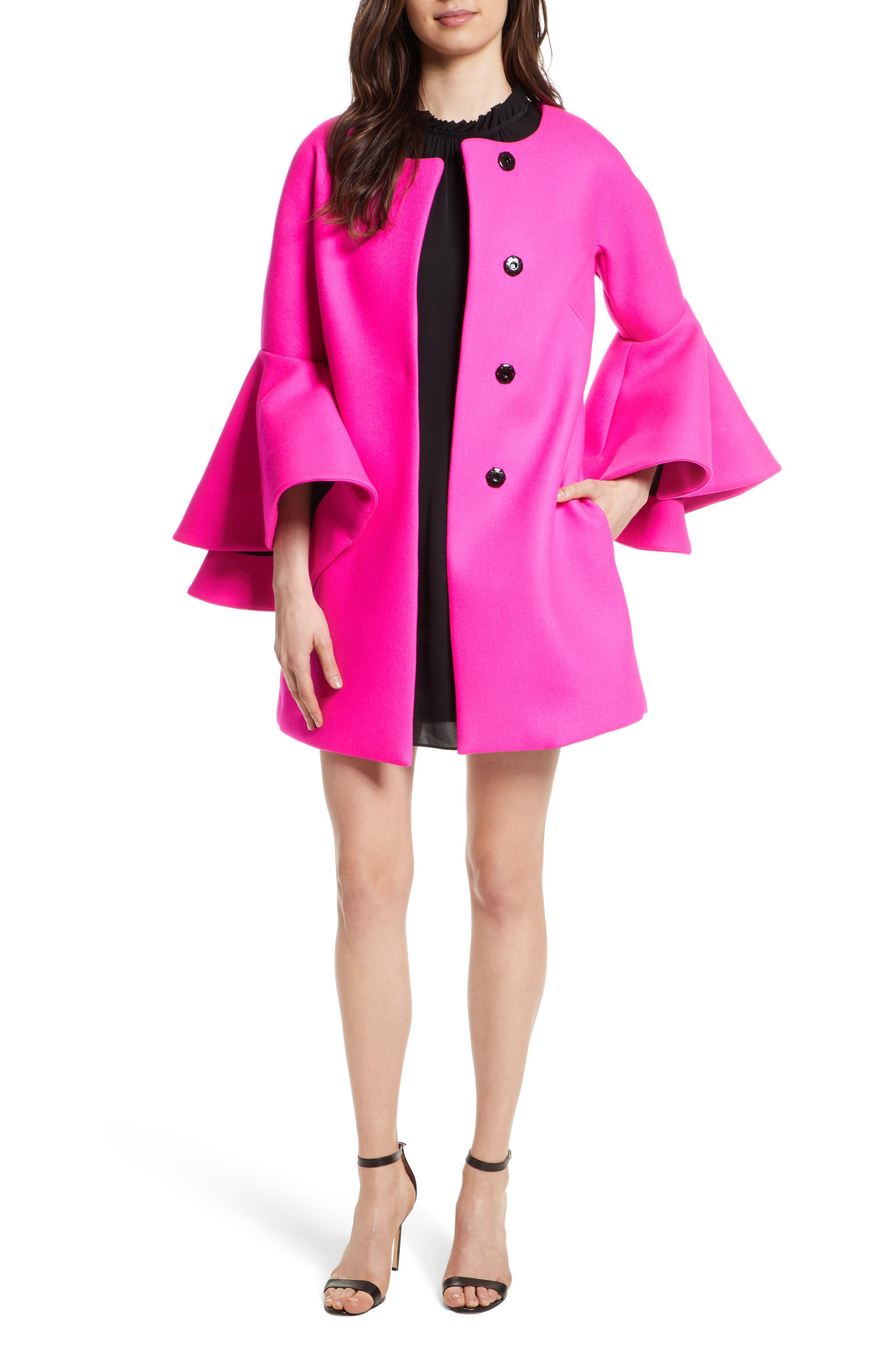 Melton Bonded Coat,                             Main thumbnail 1, color,                             662