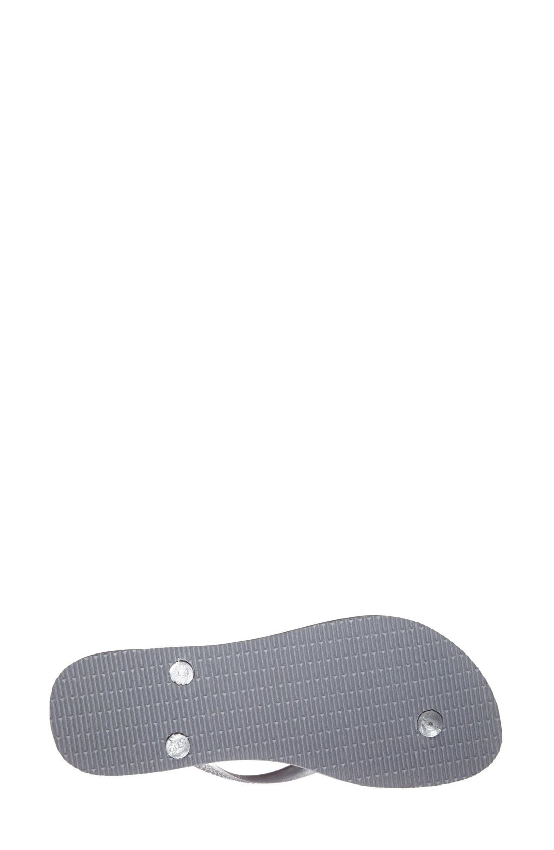 'Slim' Flip Flop,                             Alternate thumbnail 6, color,                             STEEL GREY