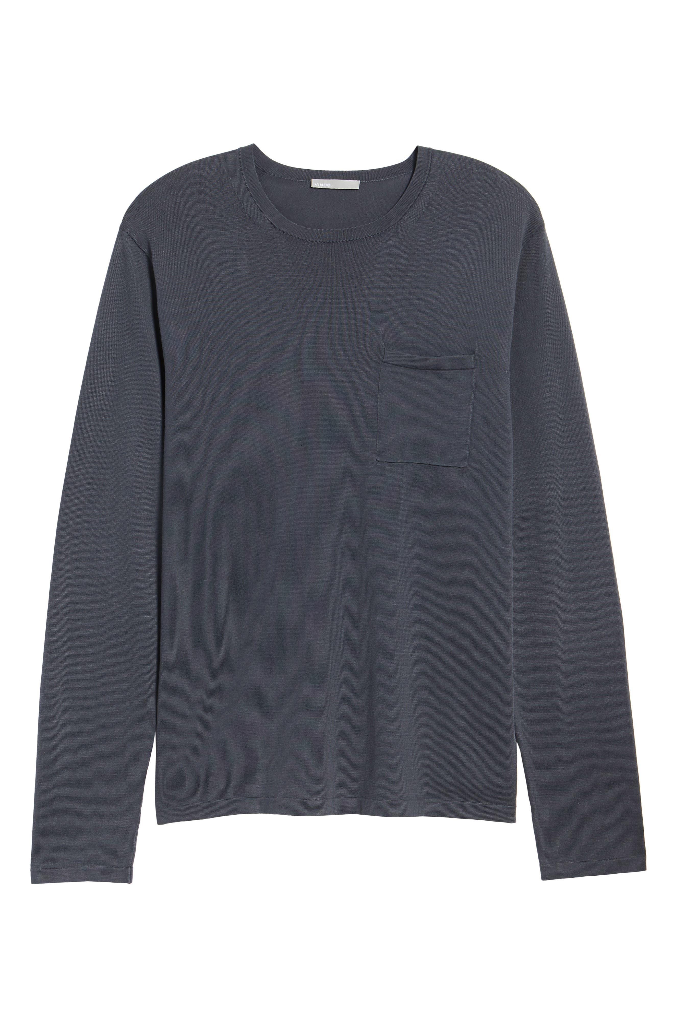 Crewneck Cotton Sweater,                             Alternate thumbnail 6, color,                             061