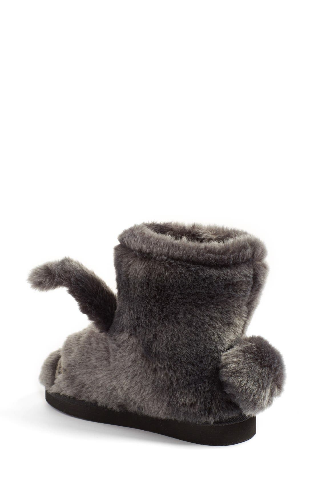 KATE SPADE NEW YORK,                             'bethie' faux fur bunny slipper,                             Alternate thumbnail 2, color,                             034