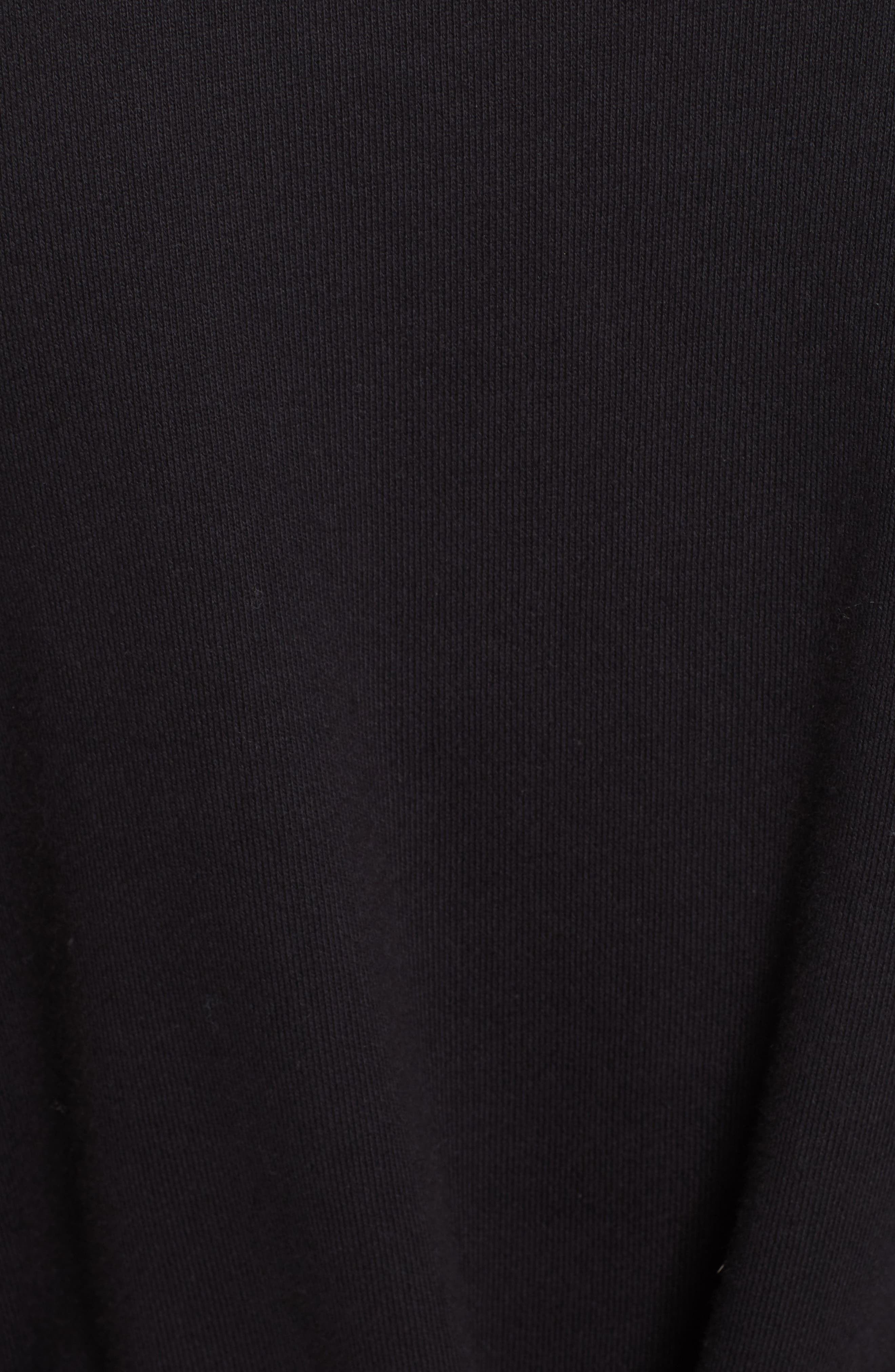 PSWL Belted Sweatshirt Dress,                             Alternate thumbnail 6, color,                             BLACK