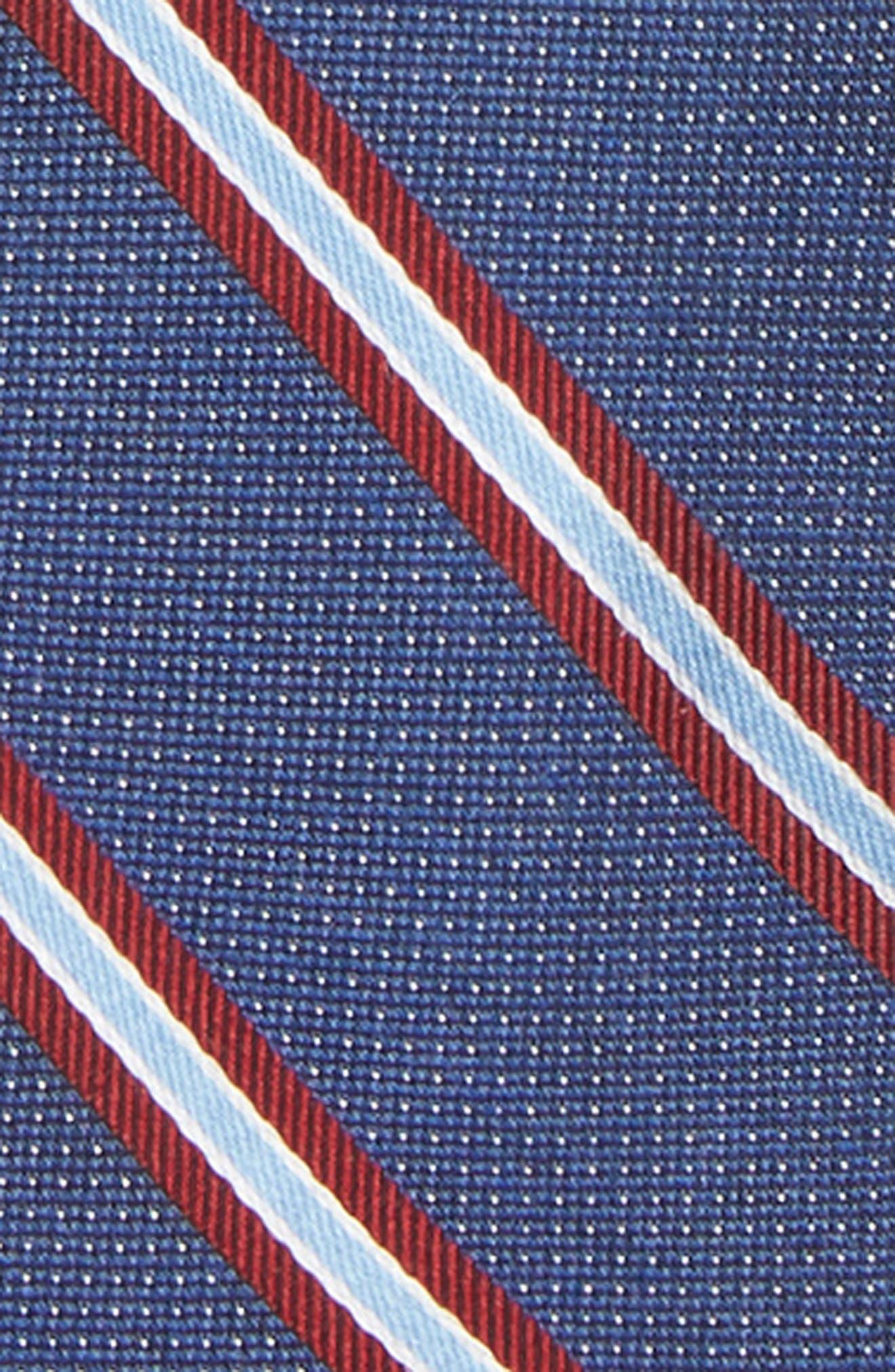 Stripe Silk Zip Tie,                             Alternate thumbnail 2, color,                             BLUE