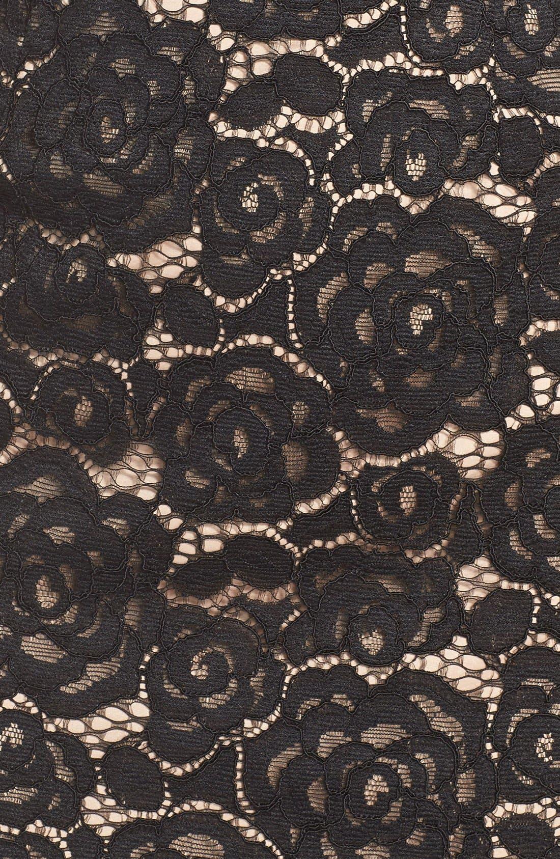 Off the Shoulder Lace Sheath Dress,                             Alternate thumbnail 7, color,