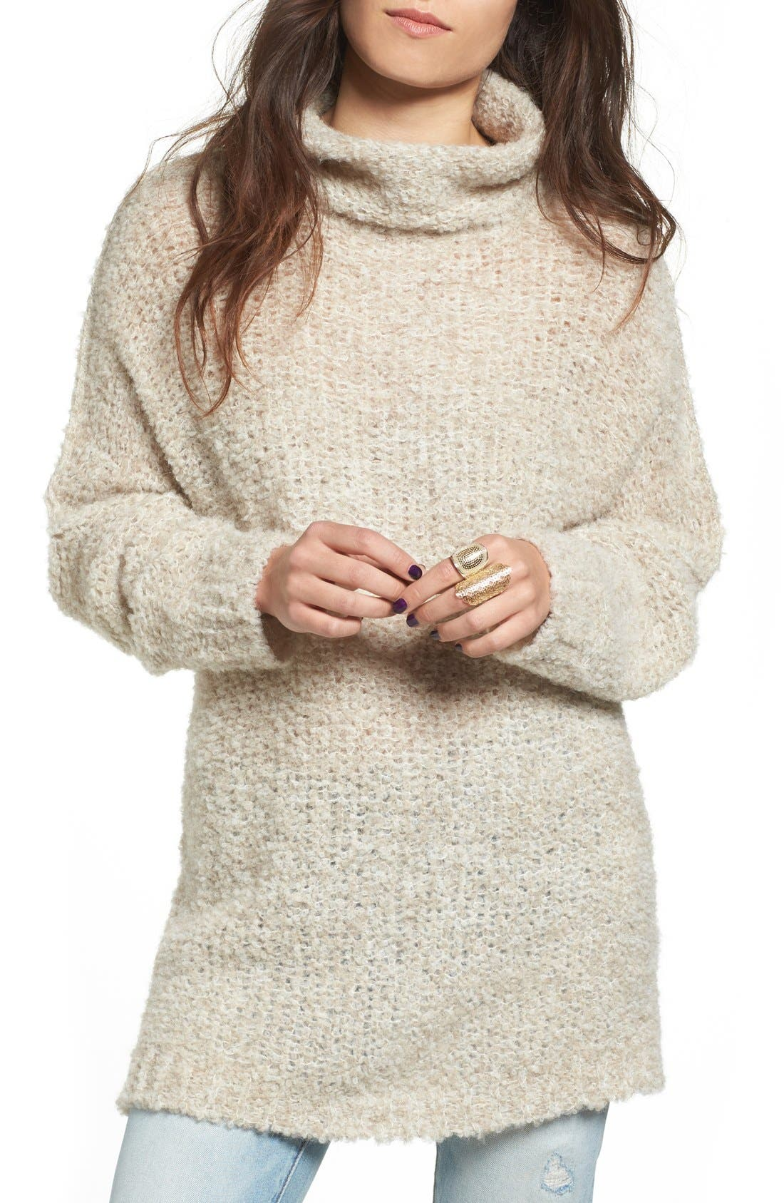 'She's All That' Knit Turtleneck Sweater,                             Main thumbnail 5, color,