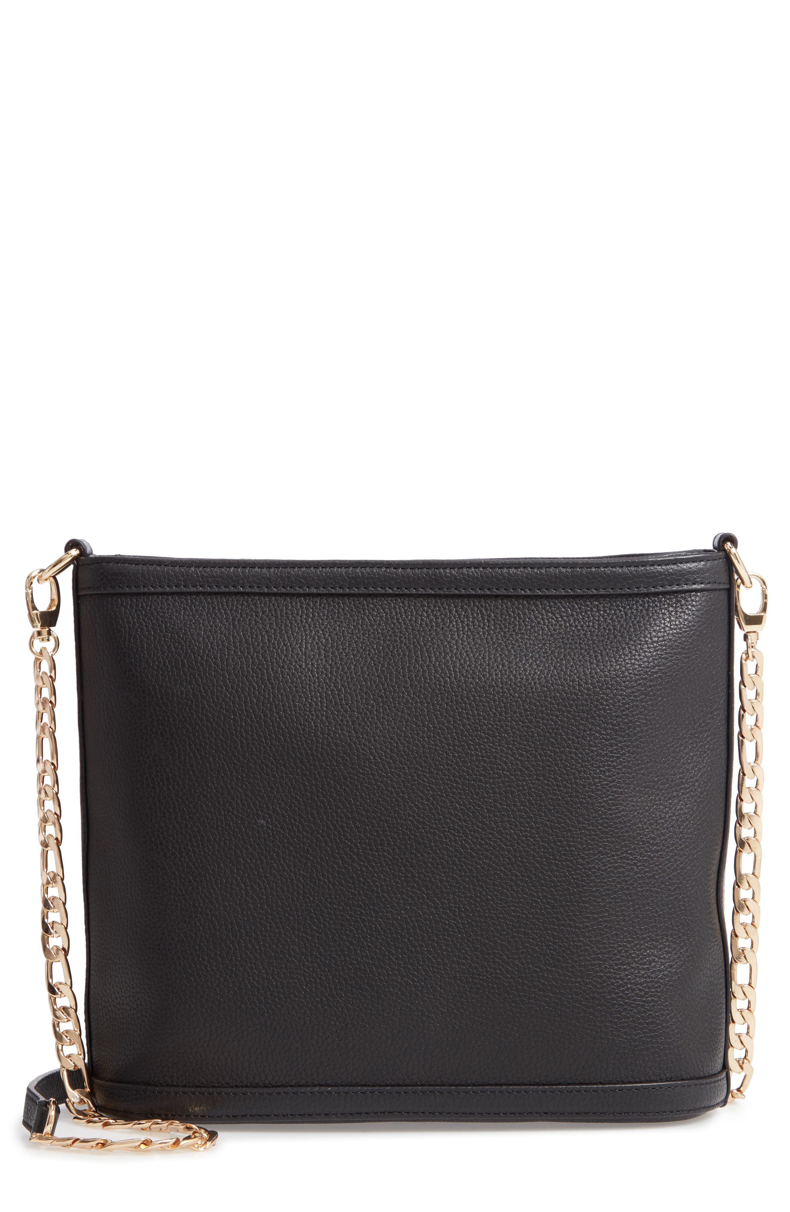 Maribel Leather Crossbody Bag,                         Main,                         color, BLACK