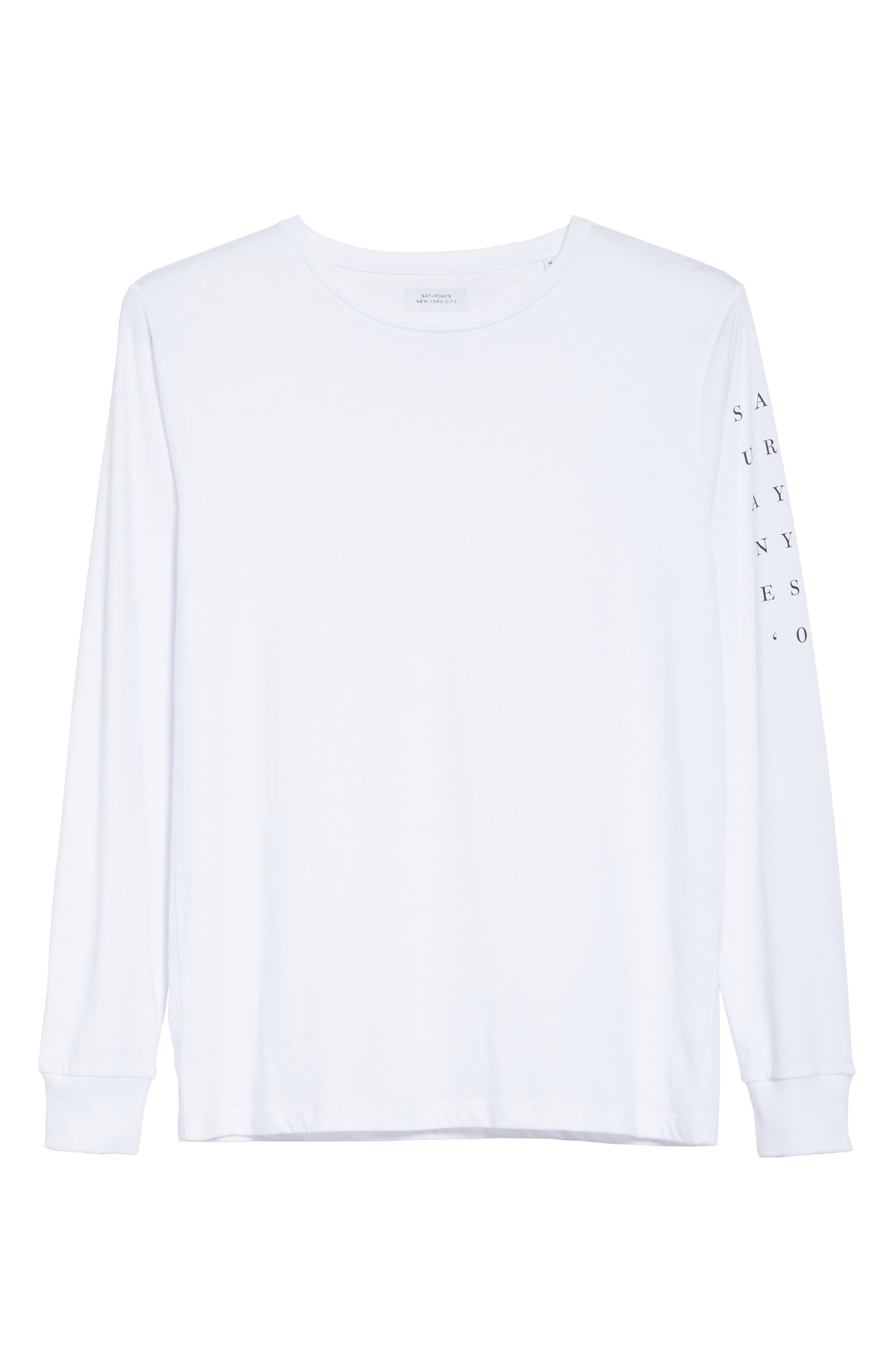 Stacked Logo Graphic Long Sleeve T-Shirt,                             Alternate thumbnail 6, color,                             110