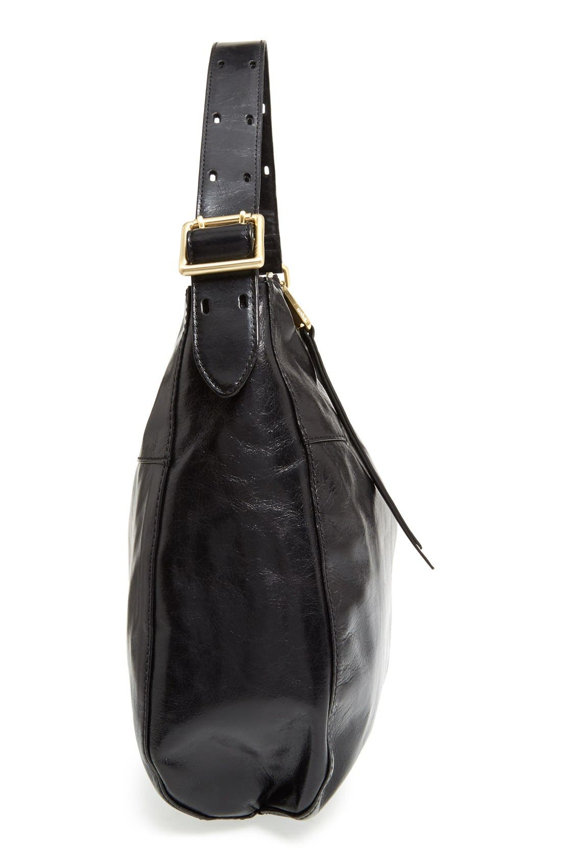 'Quincy' Leather Hobo,                             Alternate thumbnail 5, color,                             001