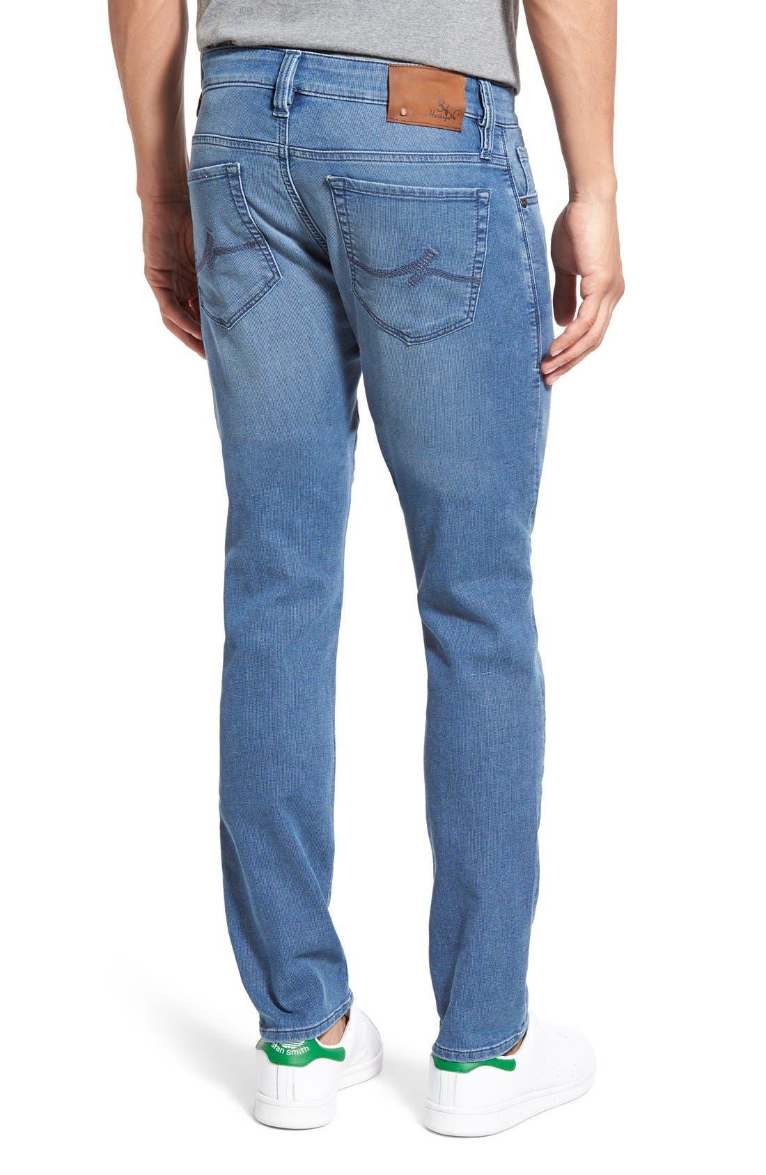 34 HERITAGE,                             'Courage' Straight Leg Jeans,                             Alternate thumbnail 3, color,                             LIGHT INDIGO SPORTY
