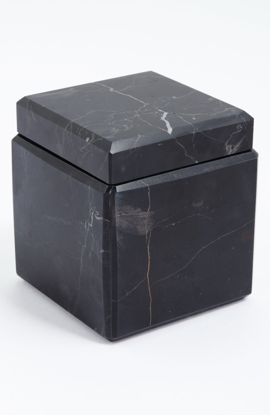 Studio 'Luna' Black Marble Covered Jar,                             Main thumbnail 1, color,                             BLACK