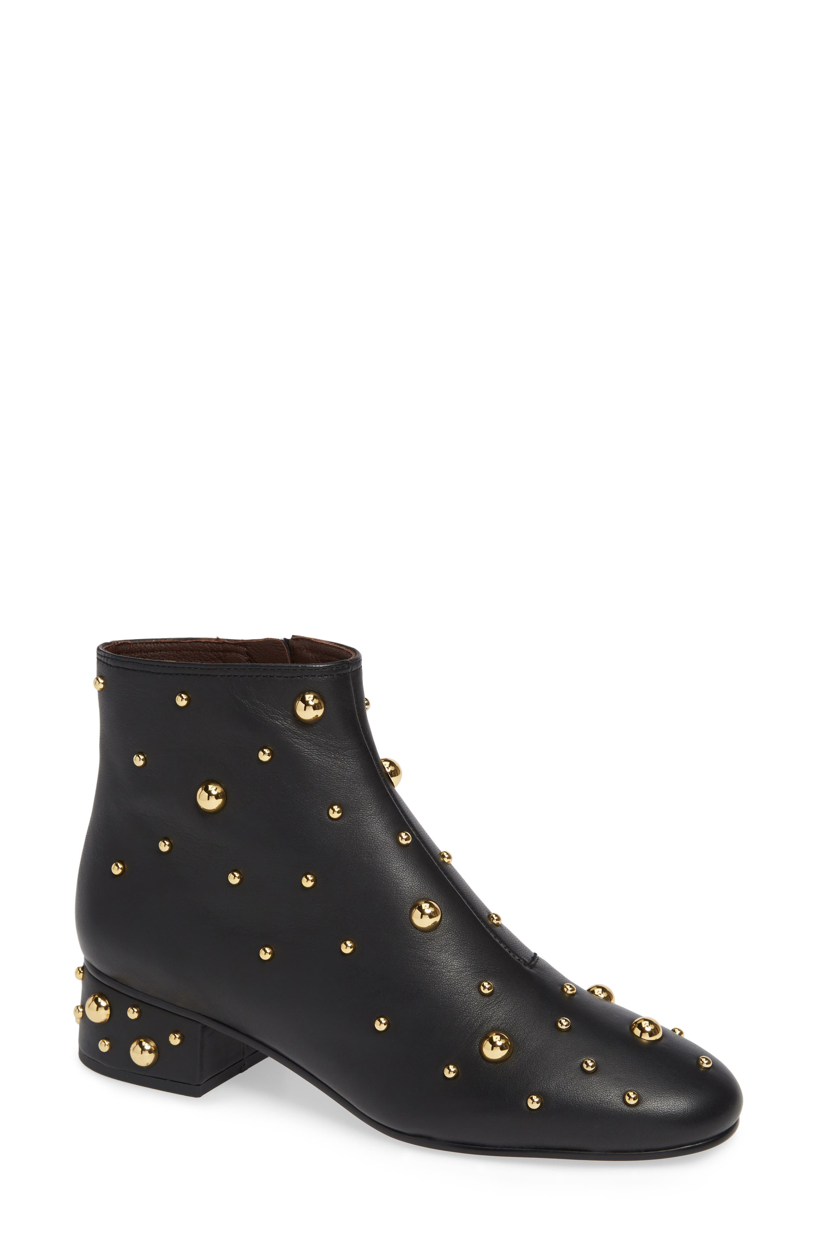 SEE BY CHLOÉ,                             Abby Studded Bootie,                             Main thumbnail 1, color,                             001