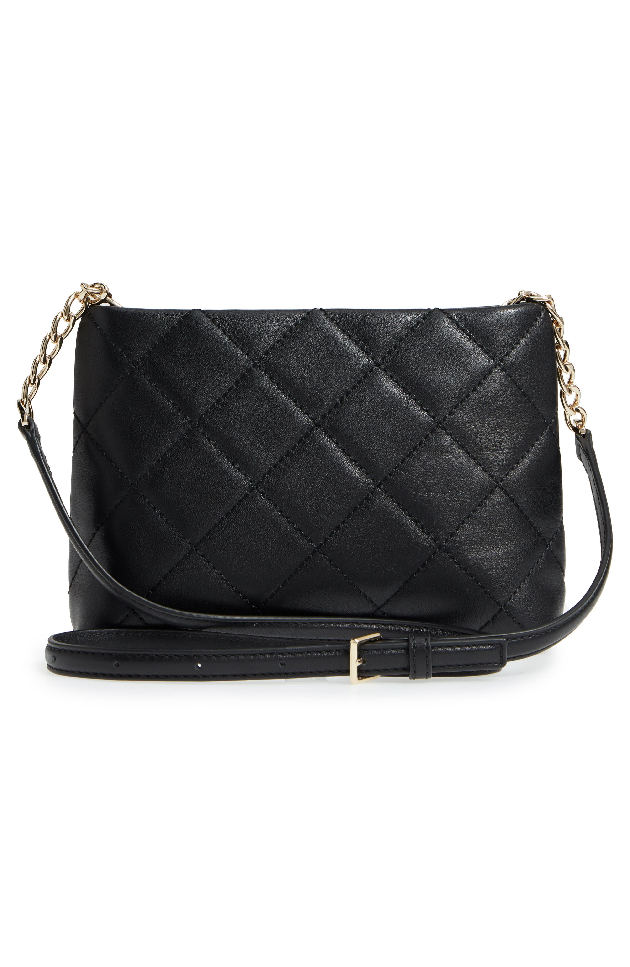 KATE SPADE NEW YORK,                             emerson place caterina leather crossbody bag,                             Alternate thumbnail 3, color,                             001
