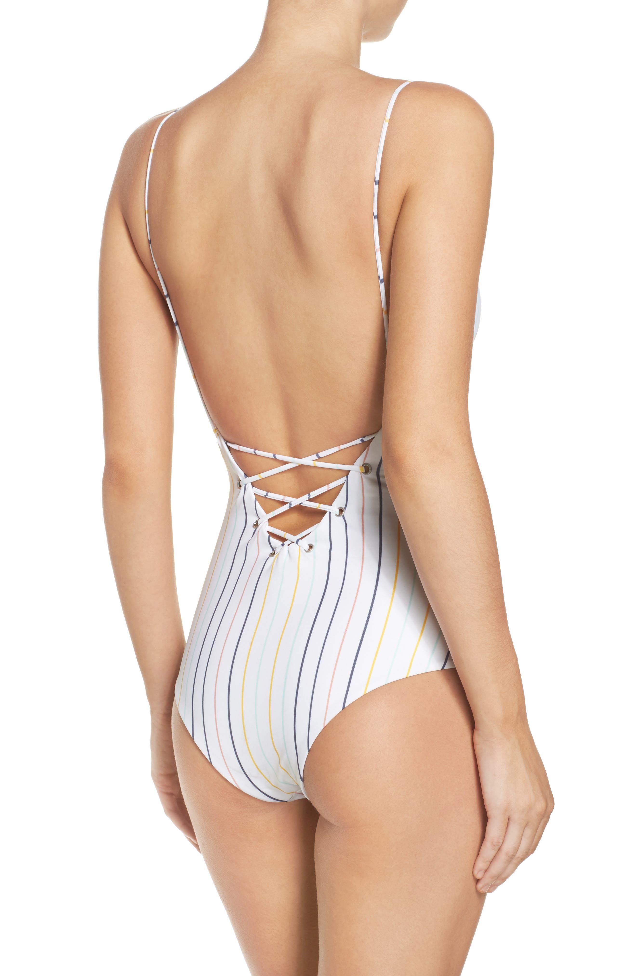 Monahan One-Piece Swimsuit,                             Alternate thumbnail 6, color,