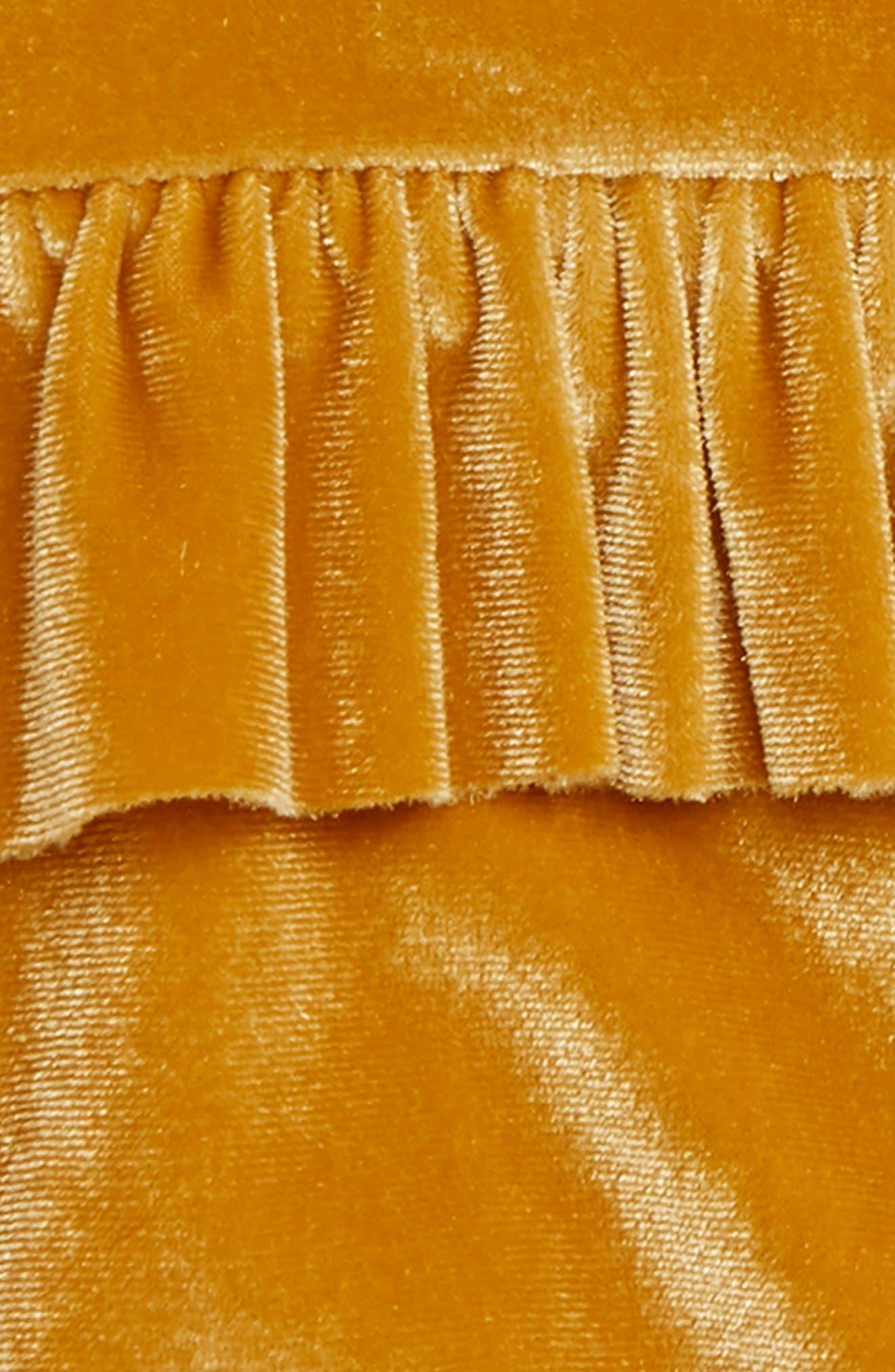TUCKER + TATE,                             Velvet Ruffle Dress,                             Alternate thumbnail 3, color,                             701