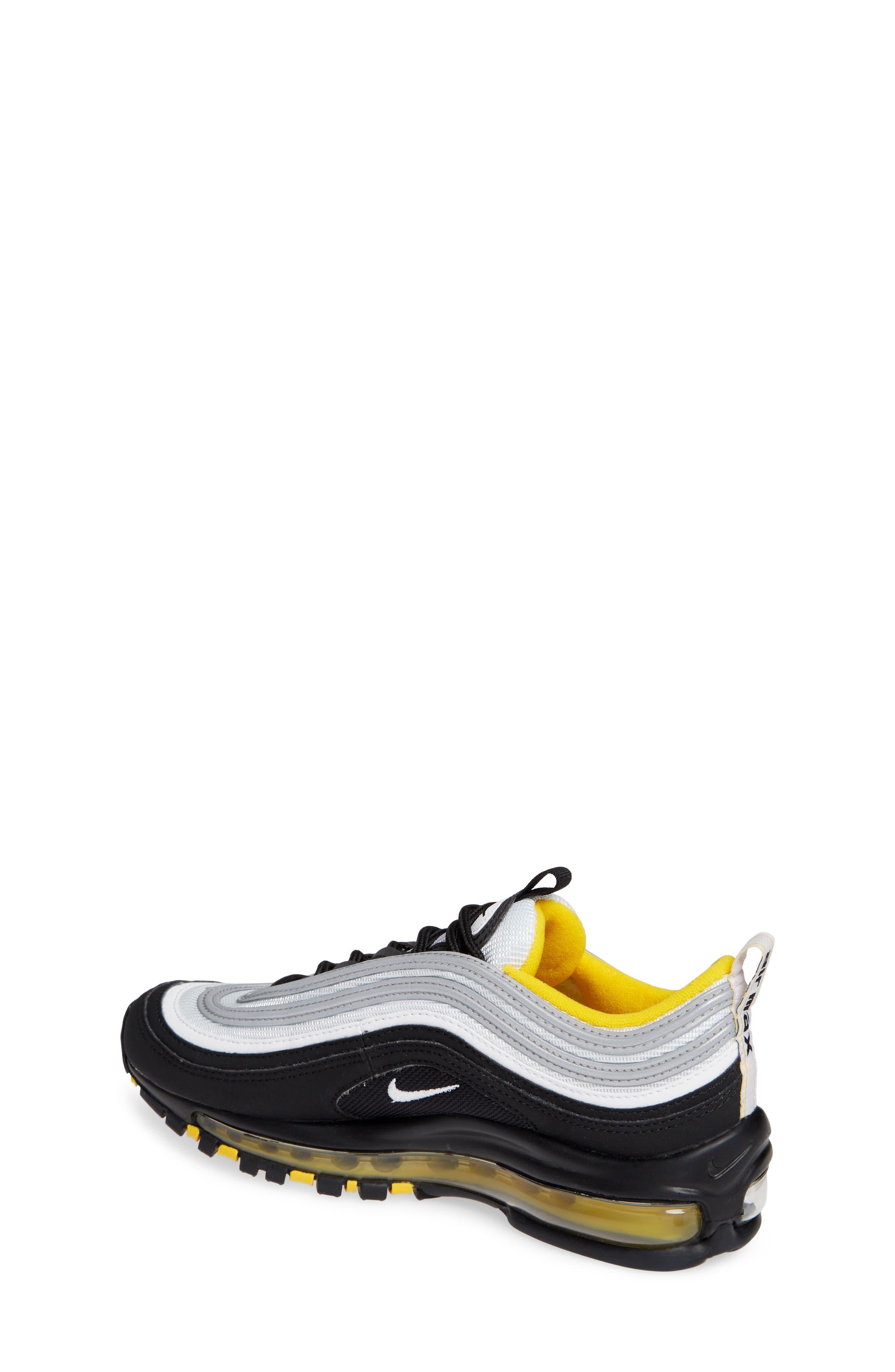 Air Max 97 Sneaker,                             Alternate thumbnail 2, color,                             BLACK/ WHITE/ AMARILLO