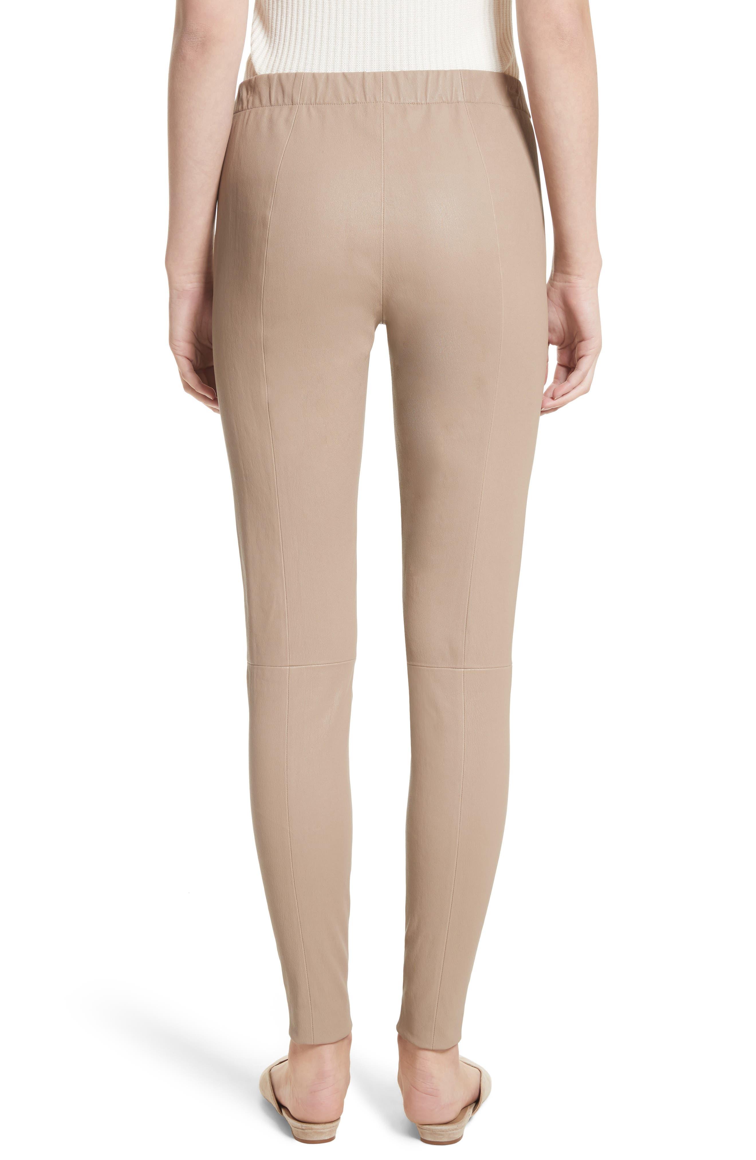 Stretch Leather Pants,                             Alternate thumbnail 2, color,                             205