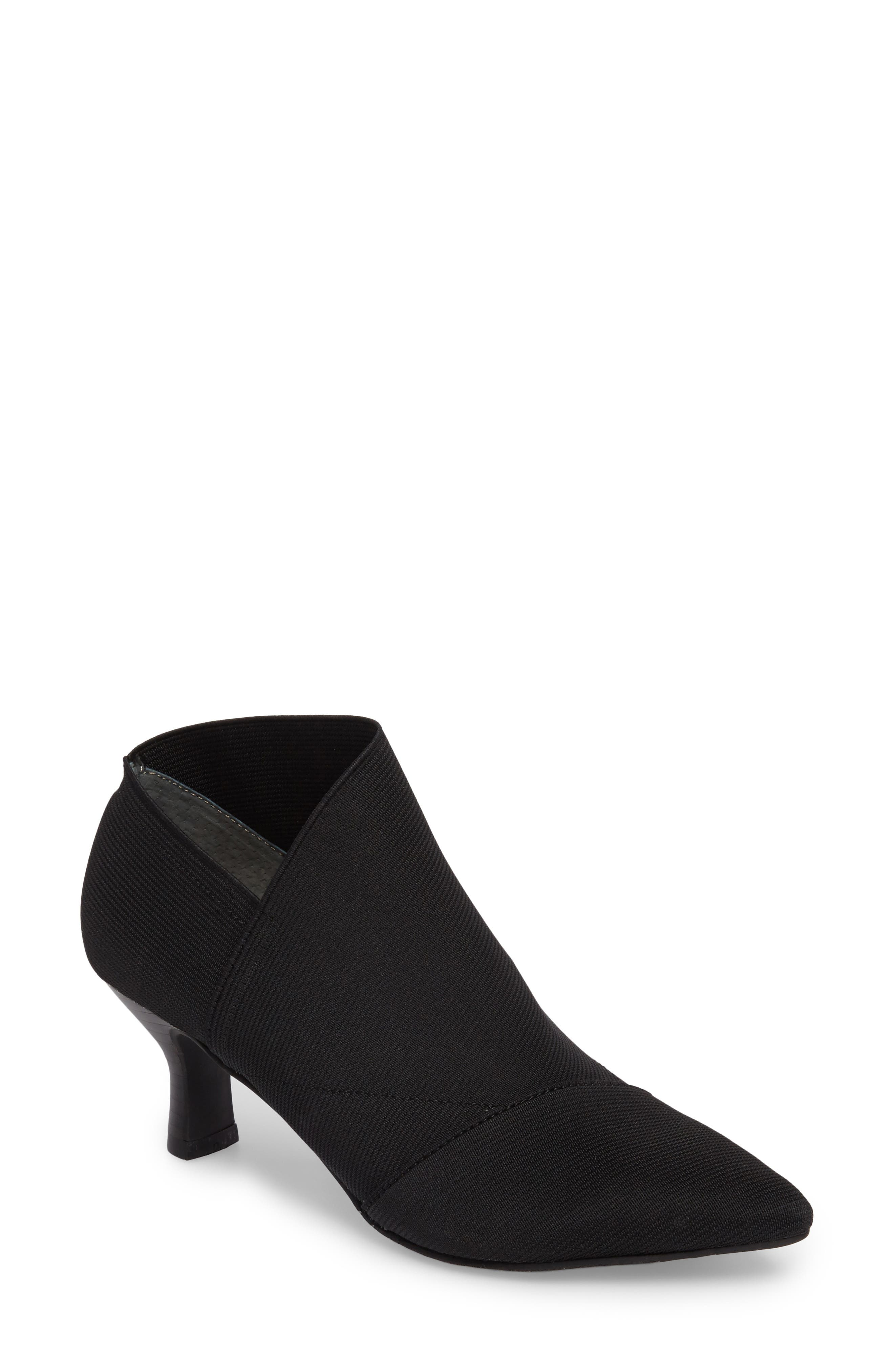 Hayes Pointy Toe Bootie in Black Fabric