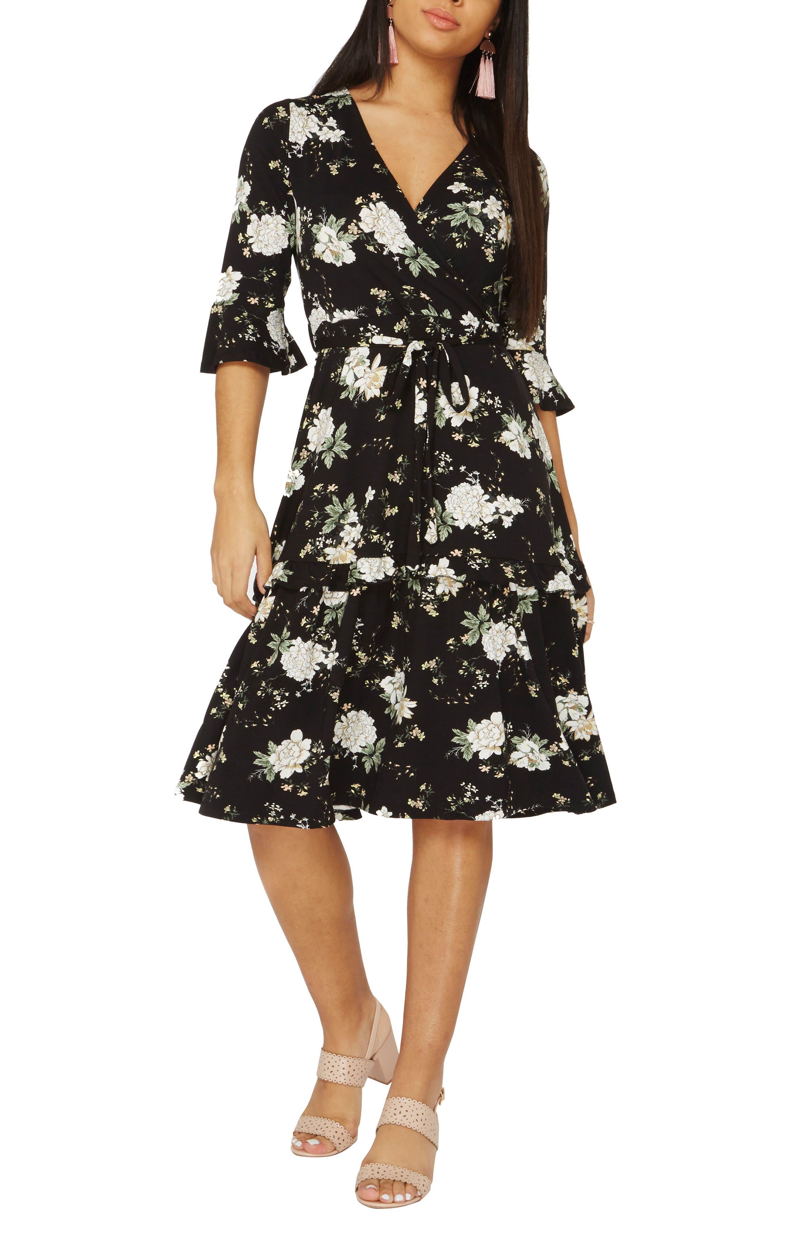 Orchid Midi Wrap Dress,                         Main,                         color,