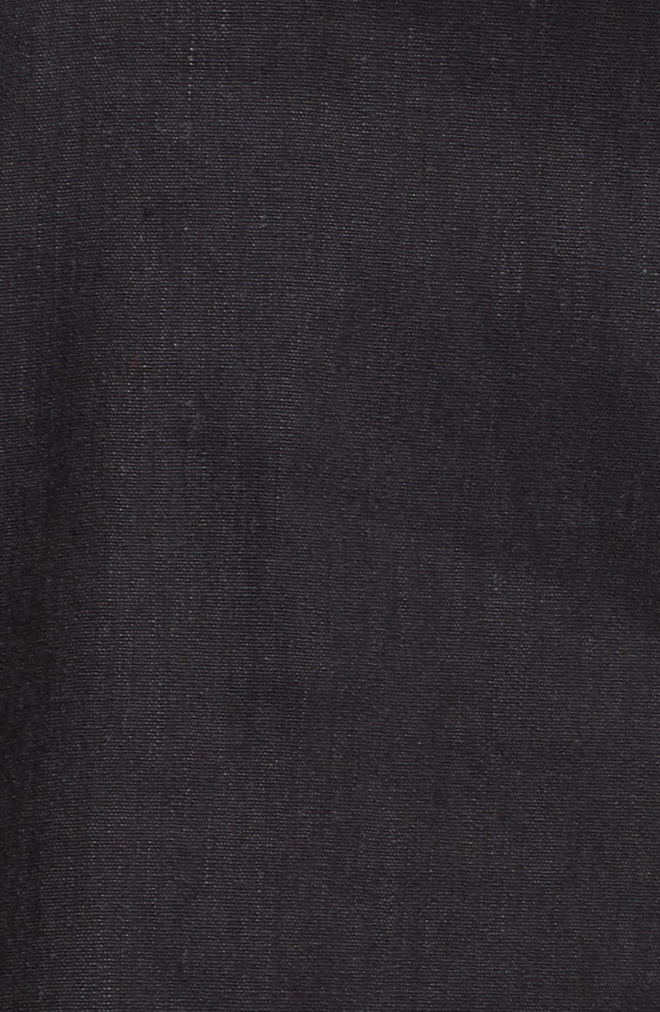 High Waist Linen Blend Shorts,                             Alternate thumbnail 5, color,                             001